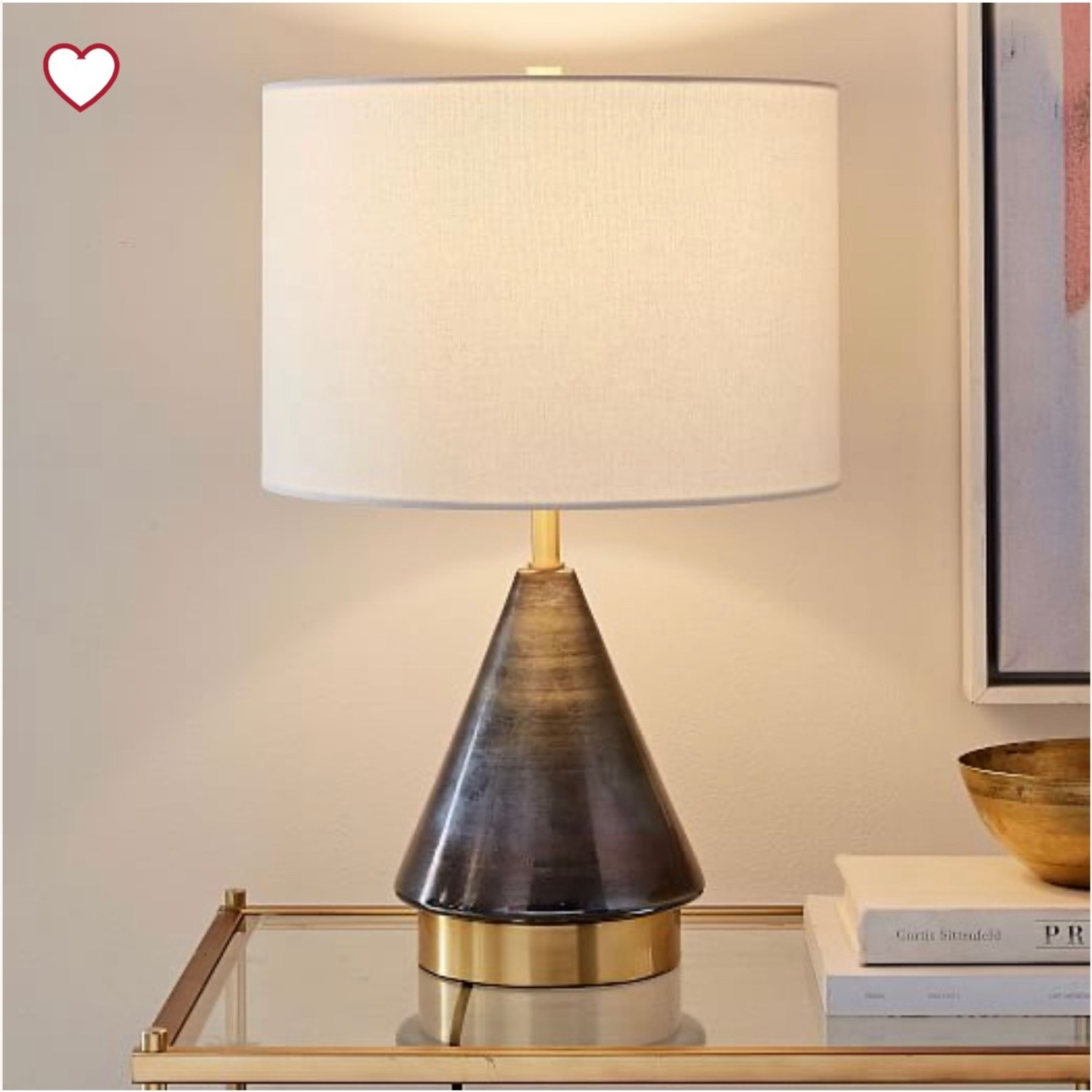 West Elm Metalized Glass USB Table Lamp - image-1
