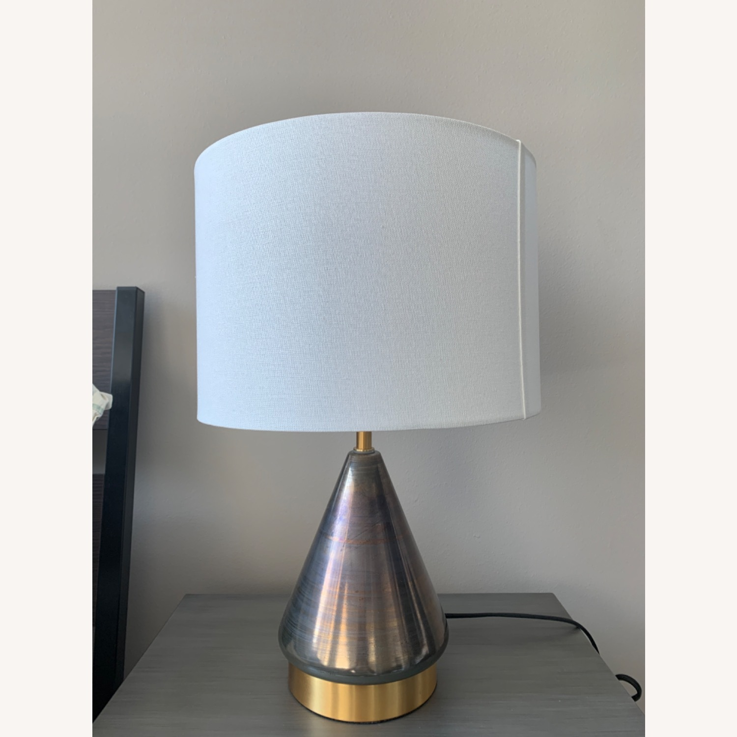 West Elm Metalized Glass USB Table Lamp - image-3