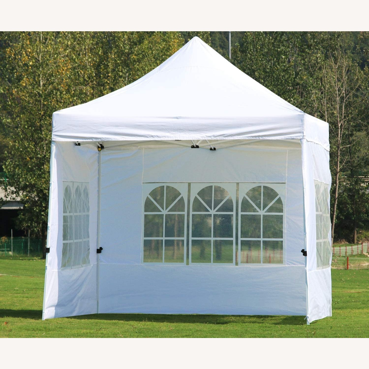 White Canopy Tent w Sidewalls & Carry Bag - image-1