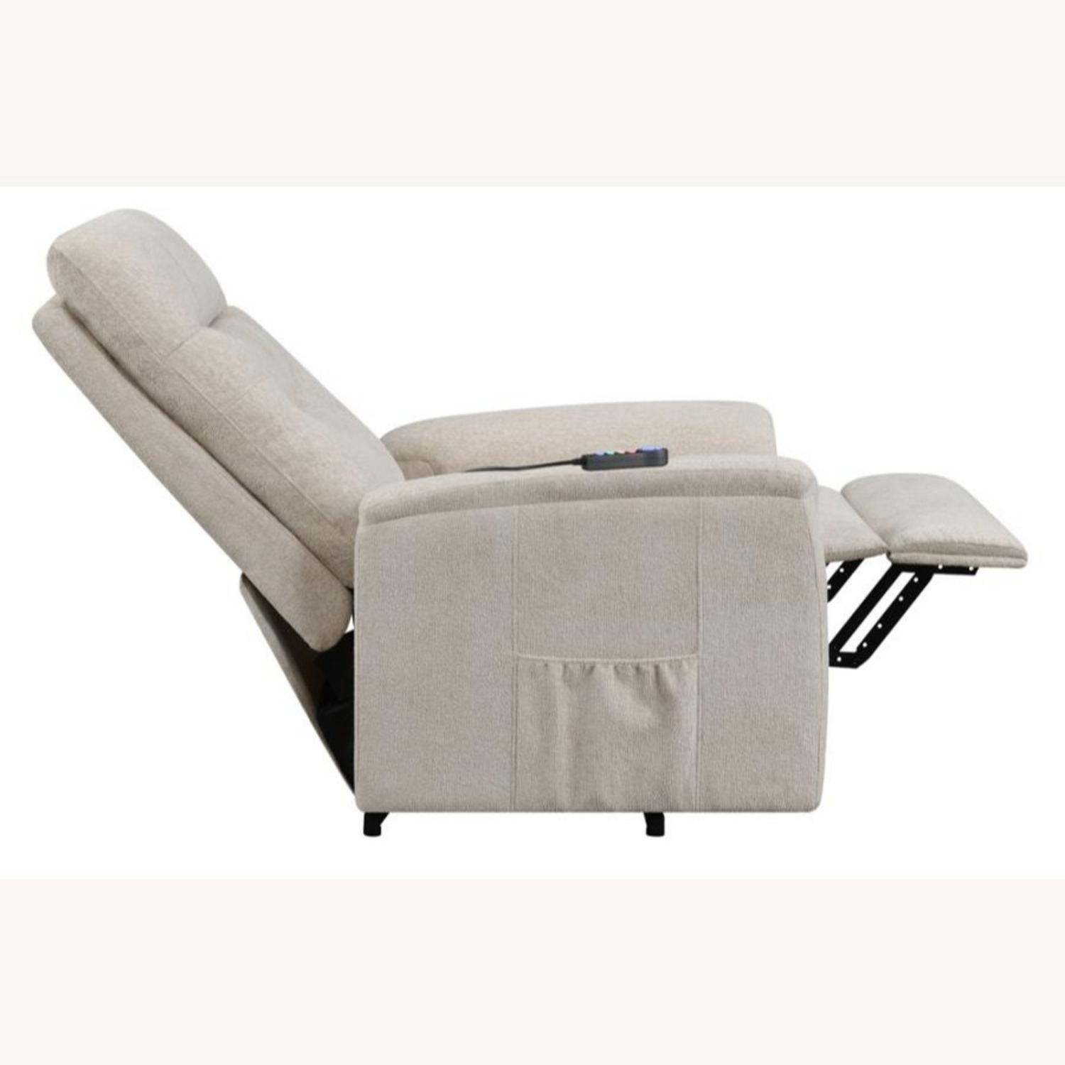 Power Lift Massage Chair In Beige Fabric - image-4