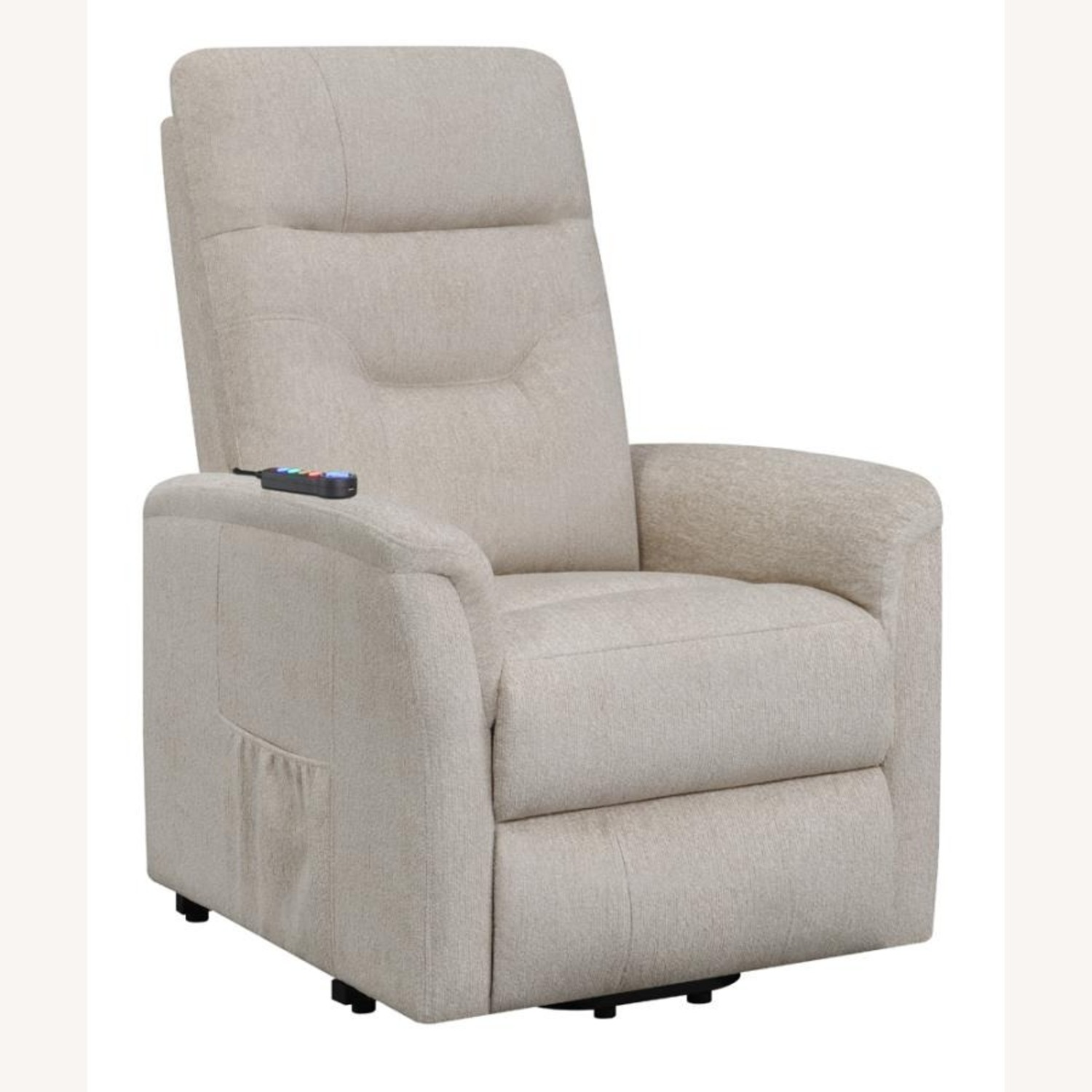 Power Lift Massage Chair In Beige Fabric - image-0