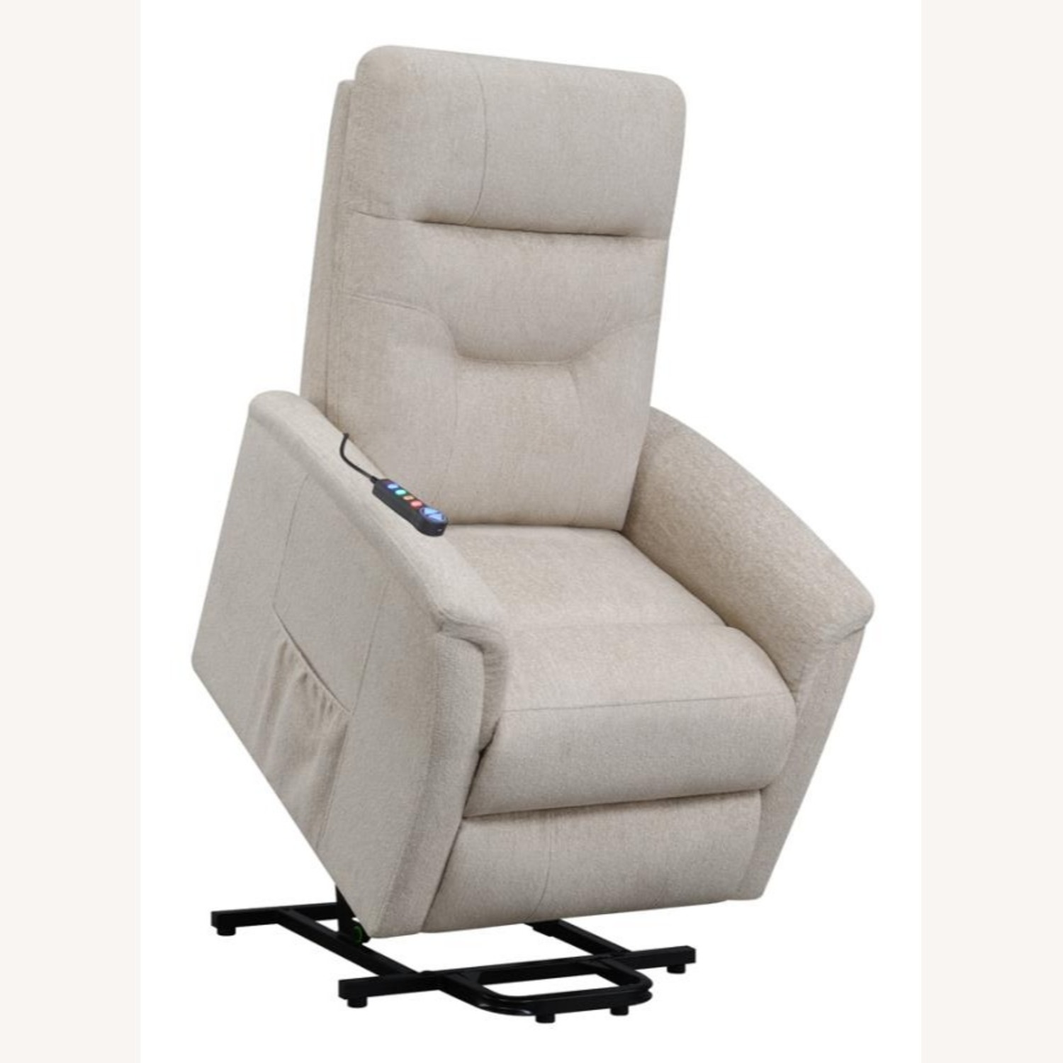 Power Lift Massage Chair In Beige Fabric - image-3