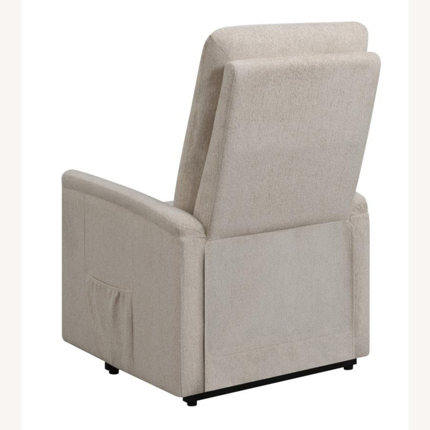 Power Lift Massage Chair In Beige Fabric - image-5