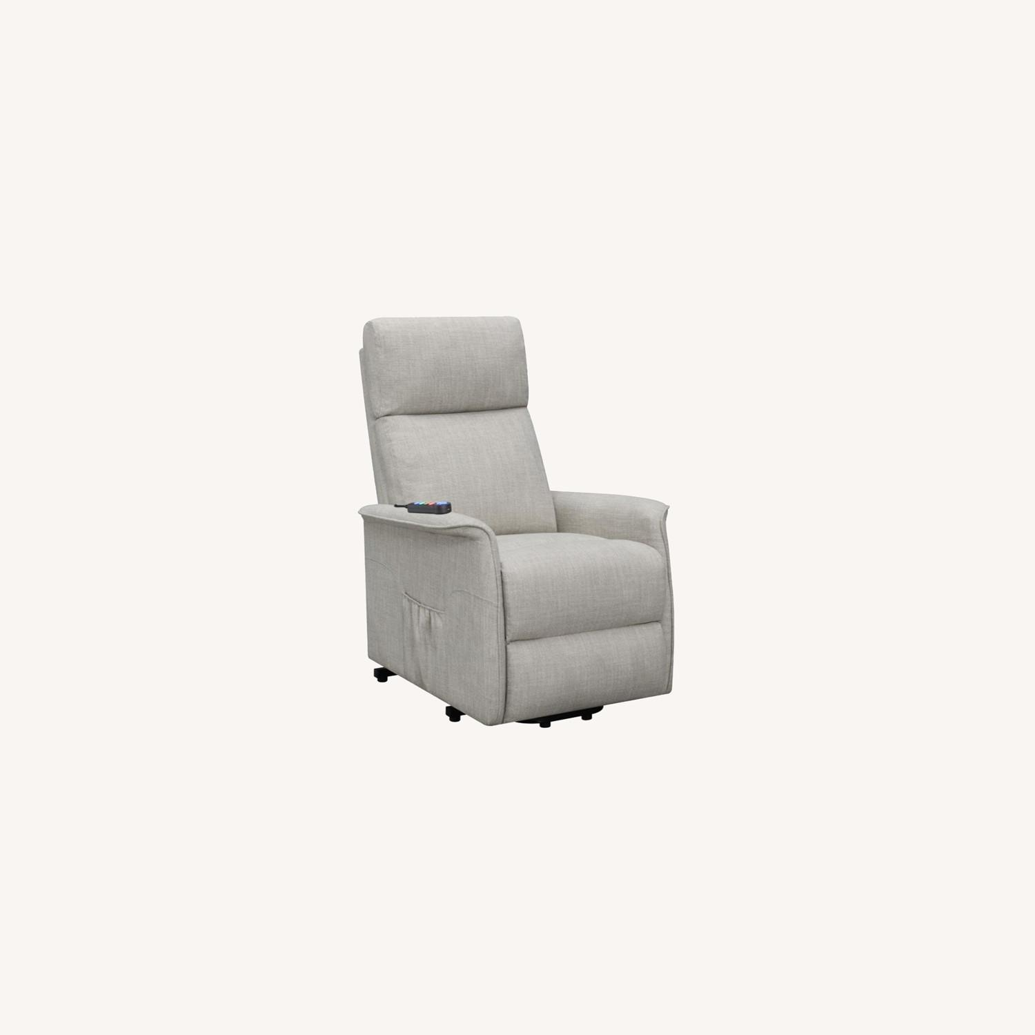 Power Lift Recliner Tufted In Beige Fabric - image-10
