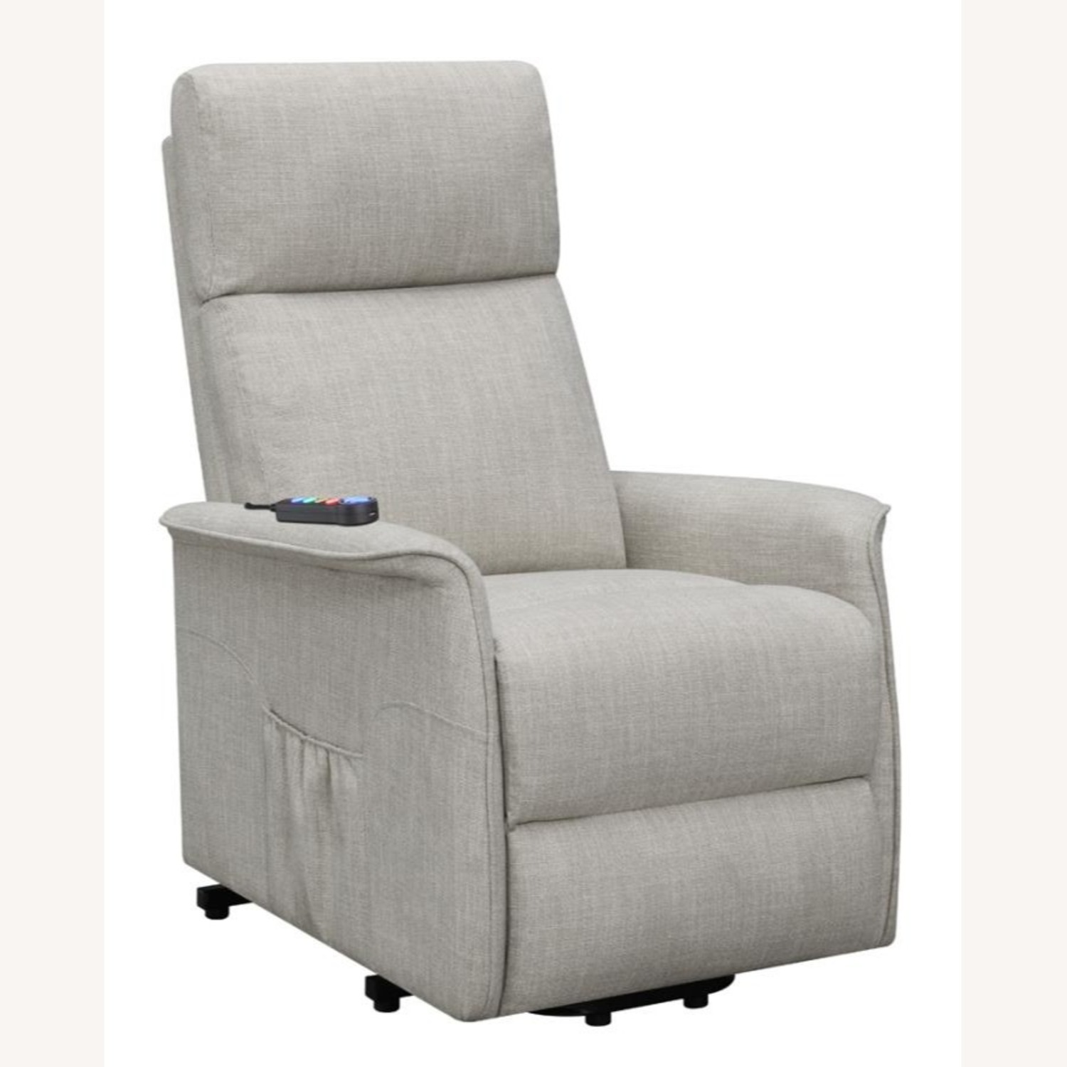 Power Lift Recliner Tufted In Beige Fabric - image-0