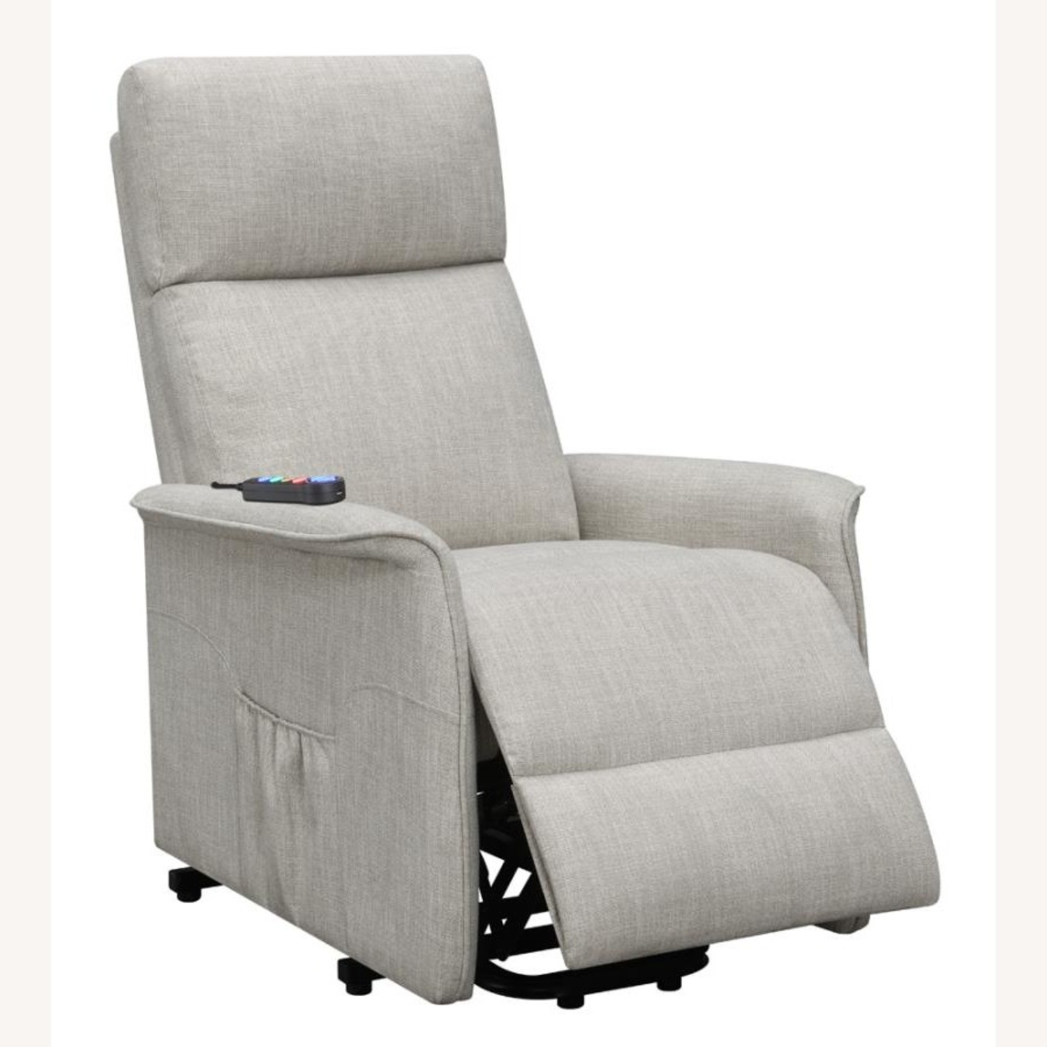 Power Lift Recliner Tufted In Beige Fabric - image-1