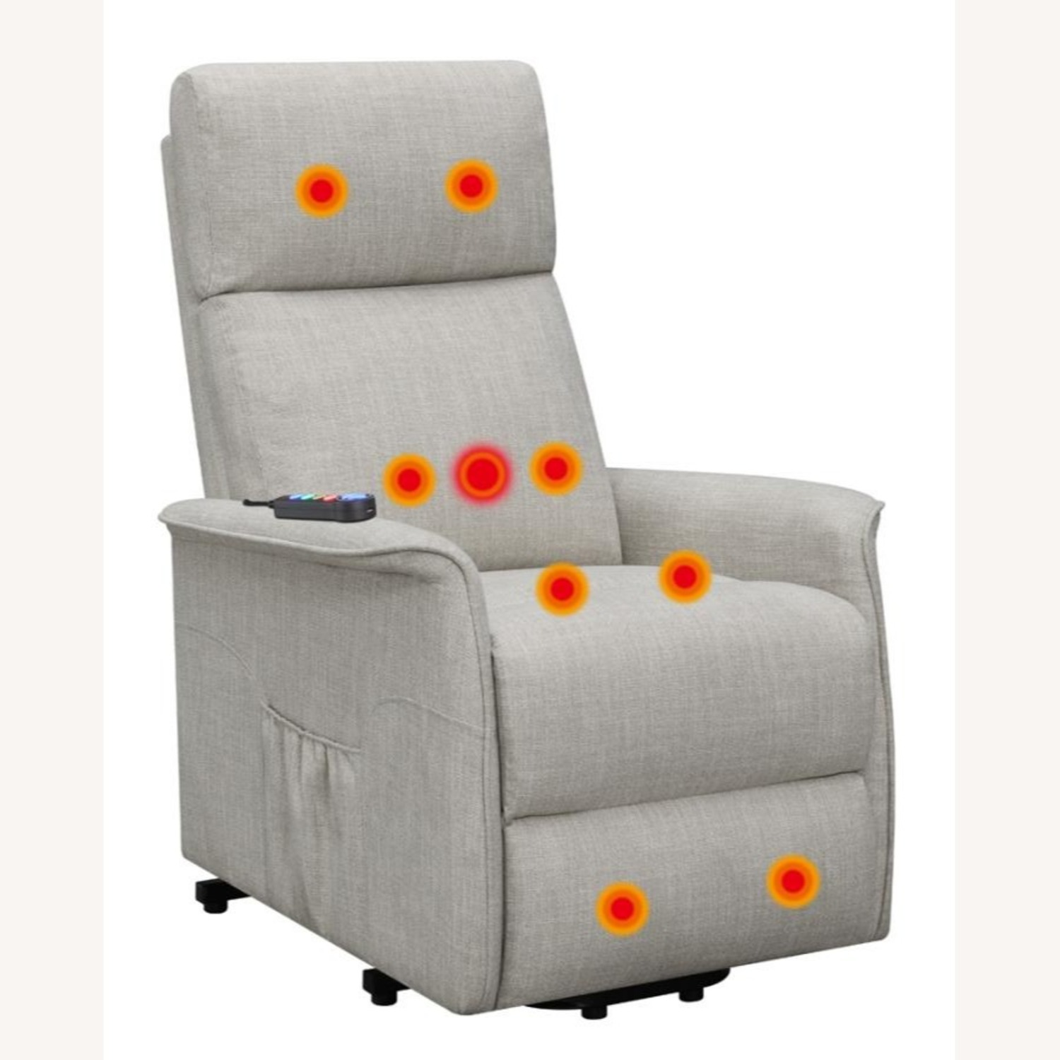 Power Lift Recliner Tufted In Beige Fabric - image-2