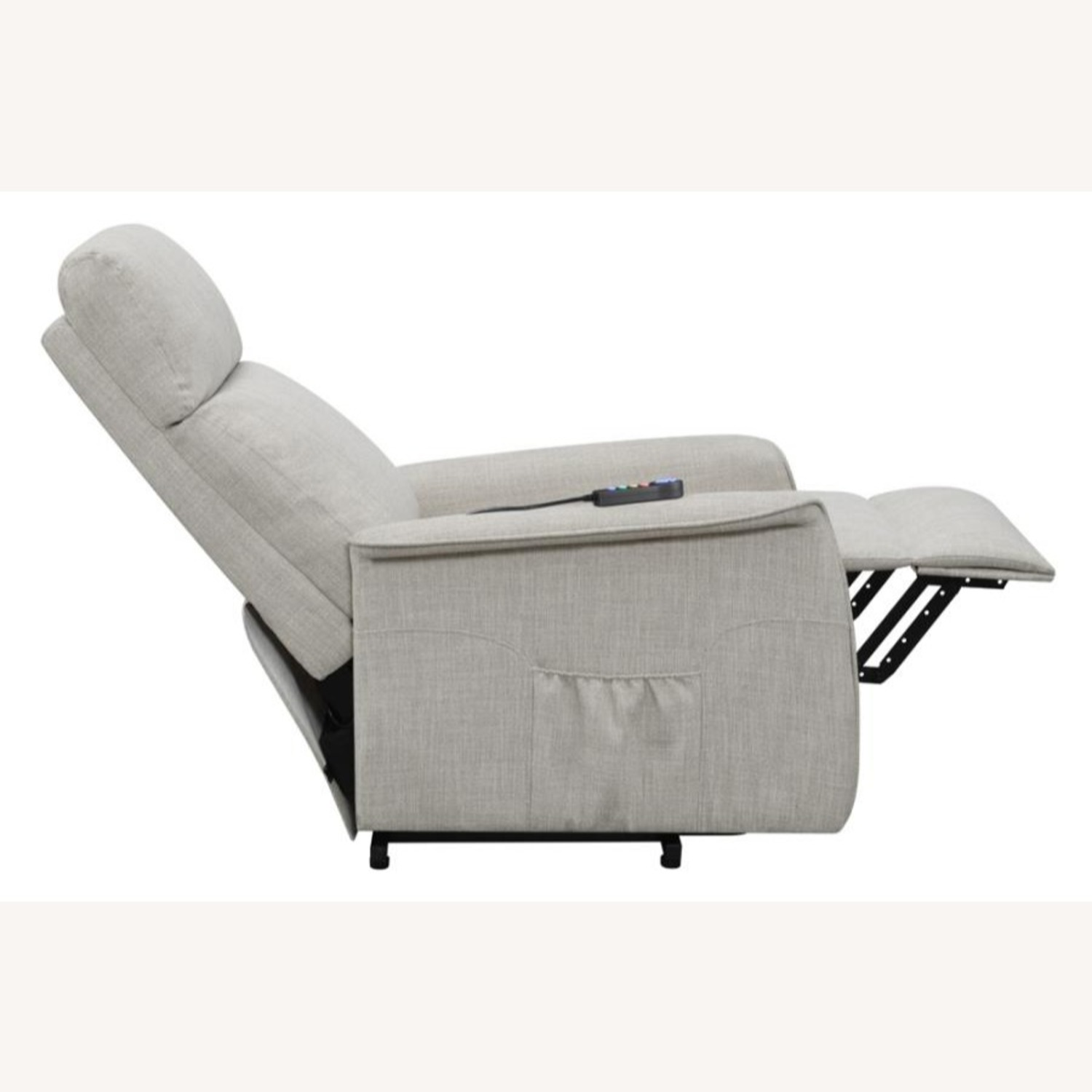 Power Lift Recliner Tufted In Beige Fabric - image-5