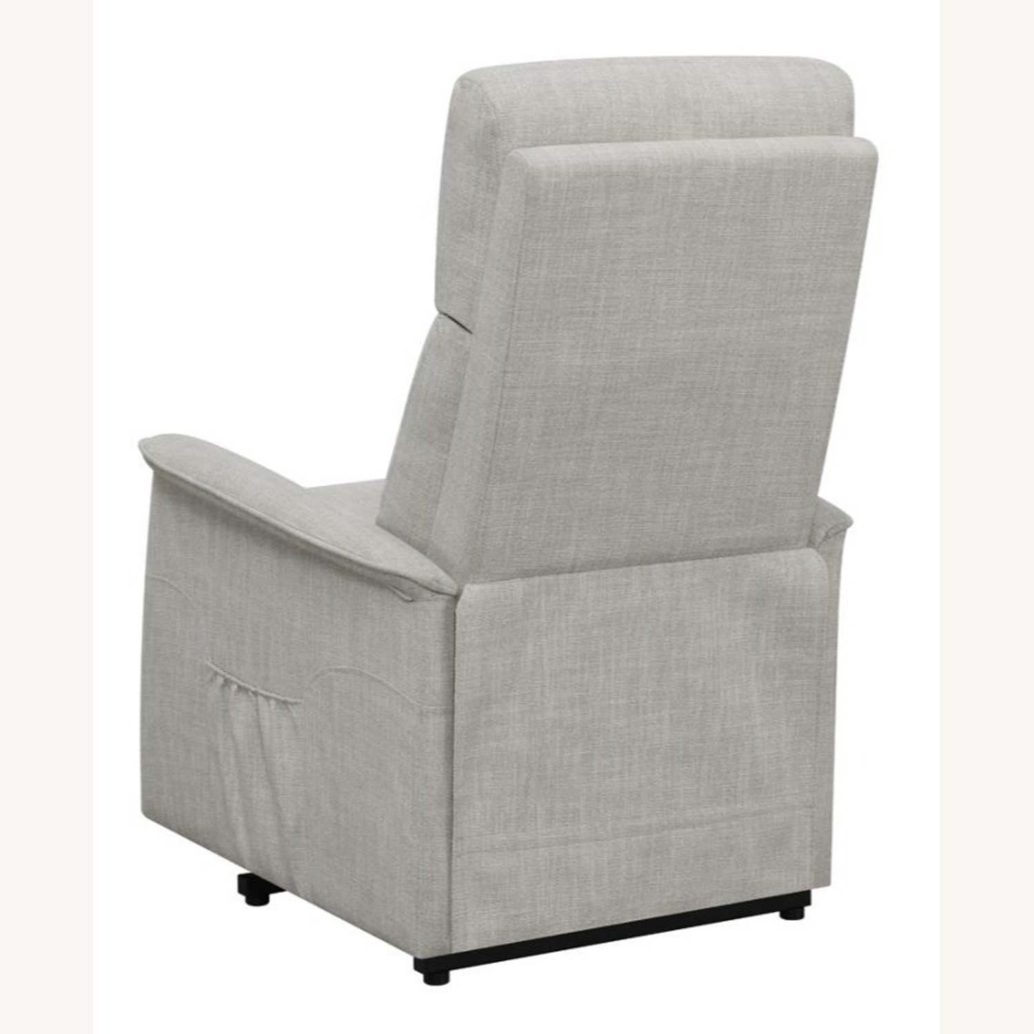 Power Lift Recliner Tufted In Beige Fabric - image-6
