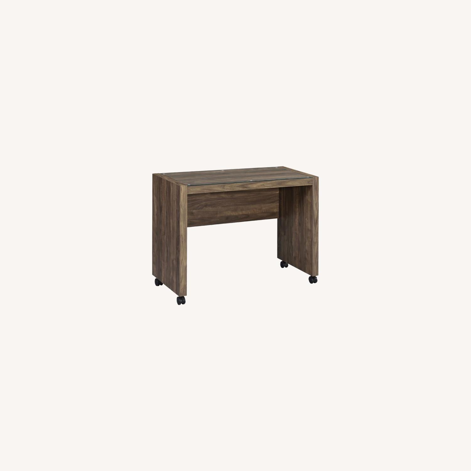 Mobile Return On Casters In Aged Walnut Finish  - image-6