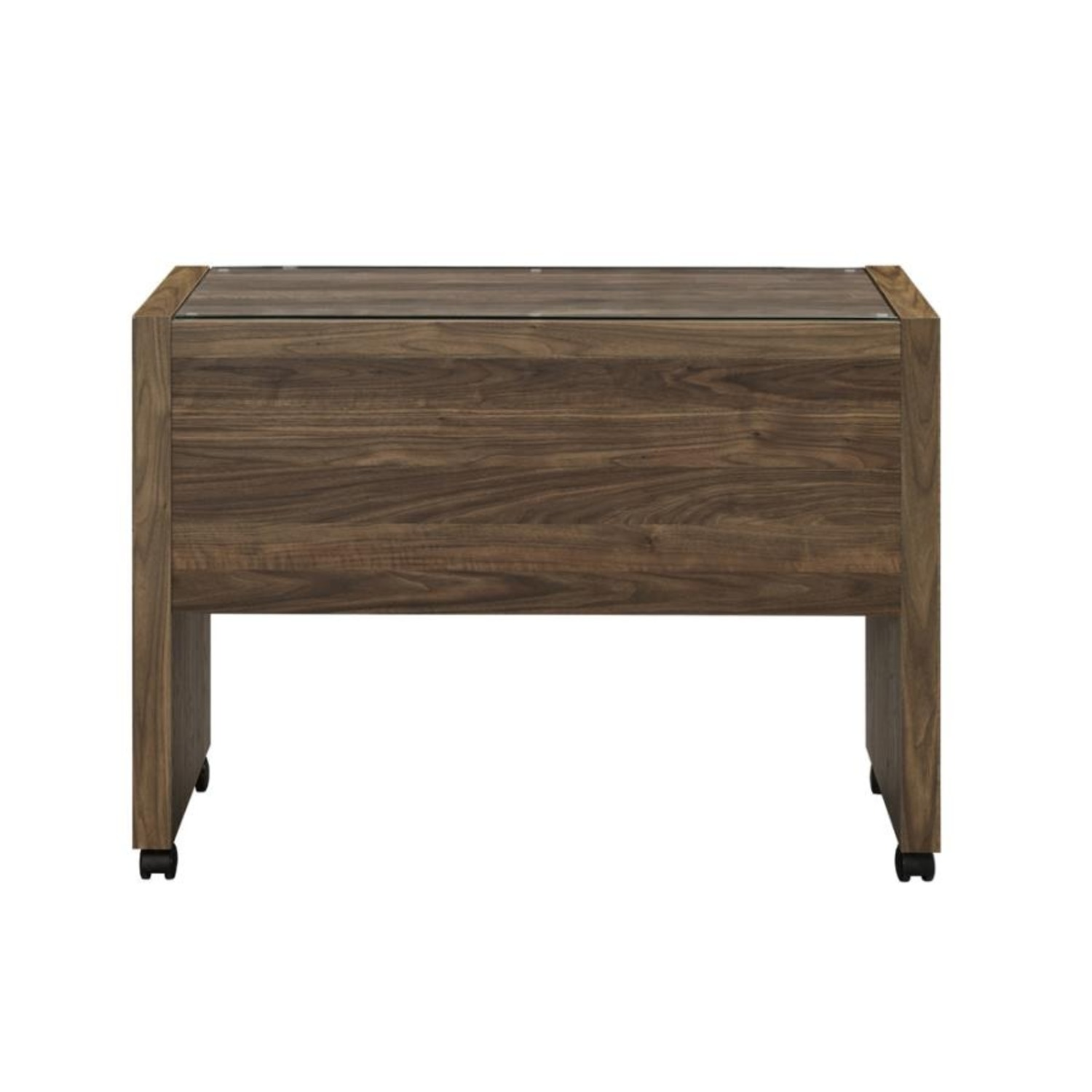 Mobile Return On Casters In Aged Walnut Finish  - image-2