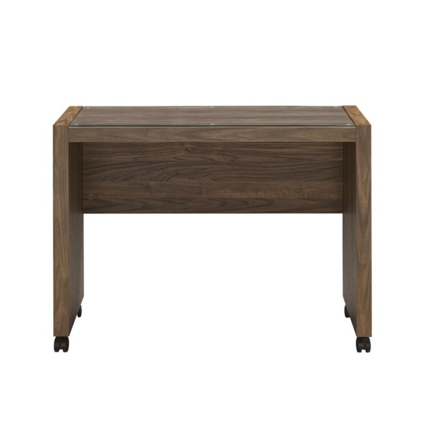 Mobile Return On Casters In Aged Walnut Finish  - image-1