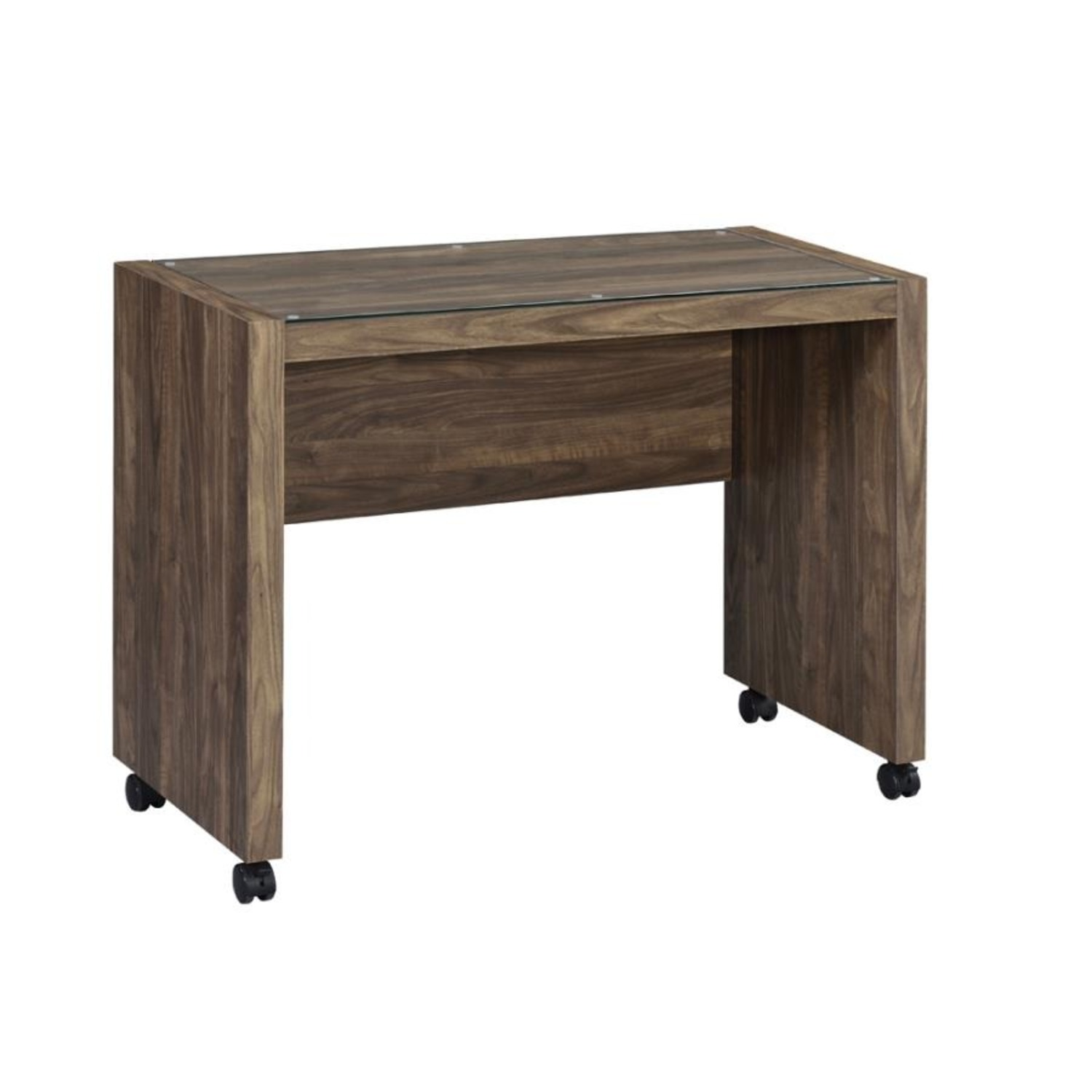 Mobile Return On Casters In Aged Walnut Finish  - image-0
