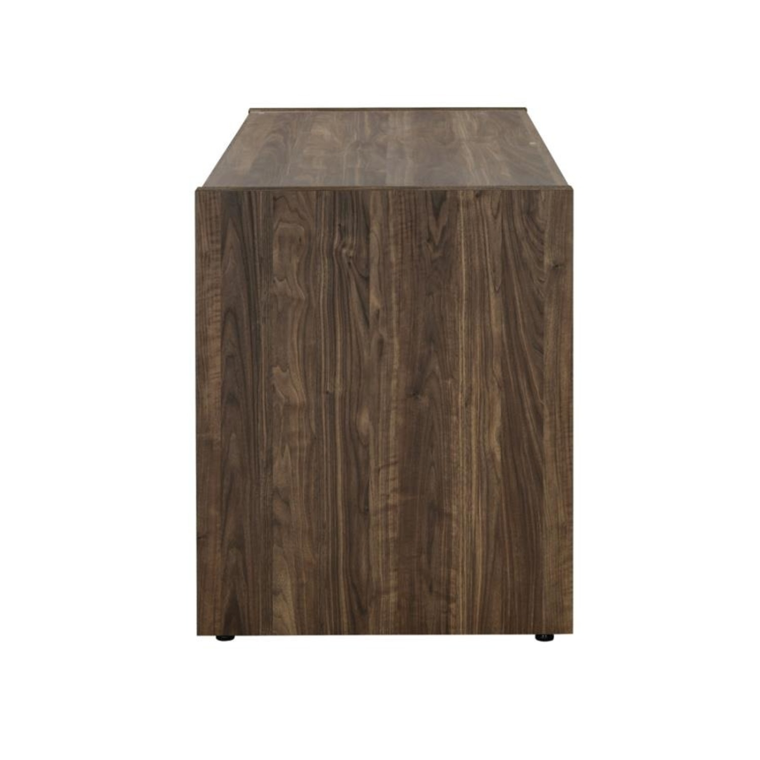 """48"""" Writing Desk In Aged Walnut W/ Tempered Glass - image-3"""