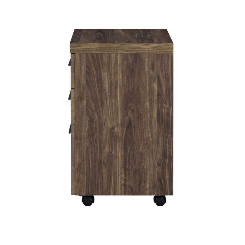 3-Drawer Mobile Storage Cabinet In Aged Walnut - image-3