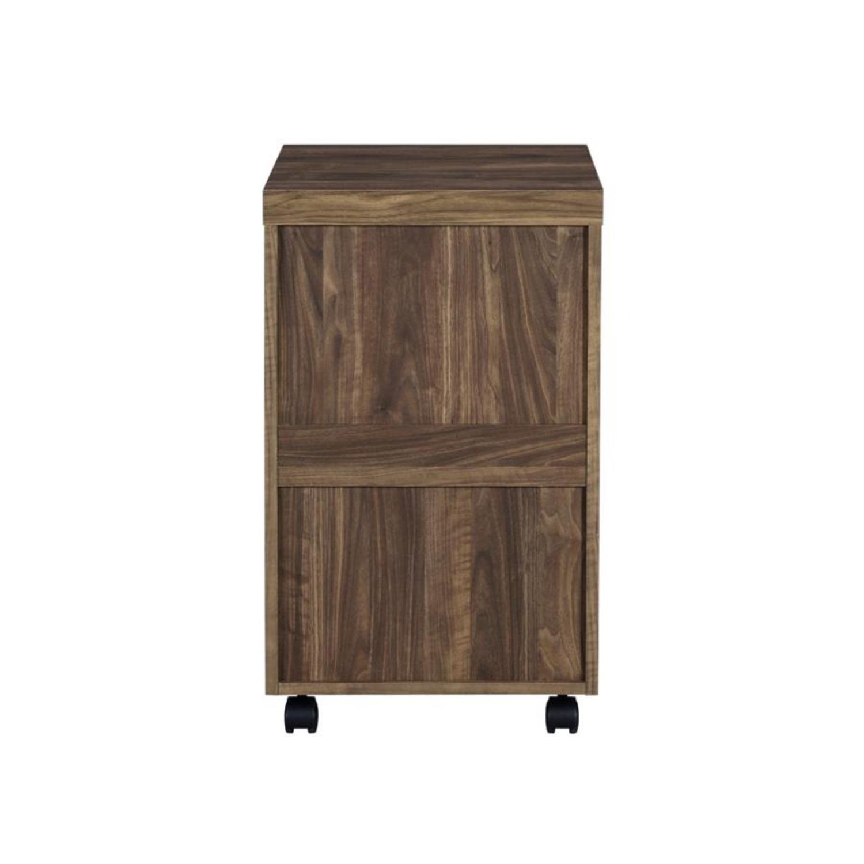 3-Drawer Mobile Storage Cabinet In Aged Walnut - image-4