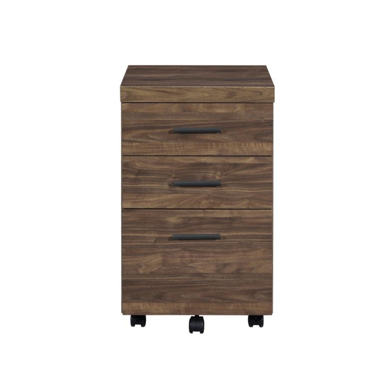 3-Drawer Mobile Storage Cabinet In Aged Walnut - image-2