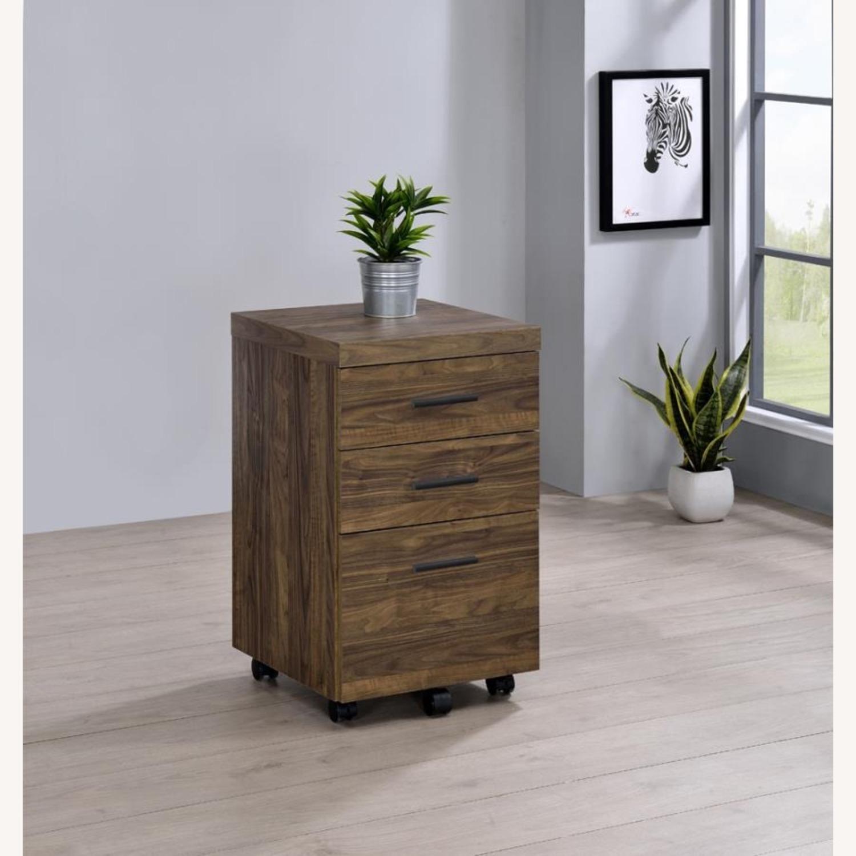 3-Drawer Mobile Storage Cabinet In Aged Walnut - image-6