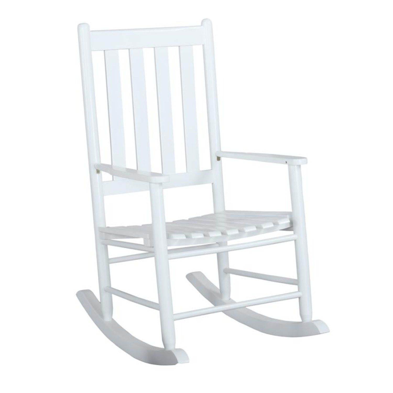 Rocking Chair In White Solid Acacia Wood Finish - image-0