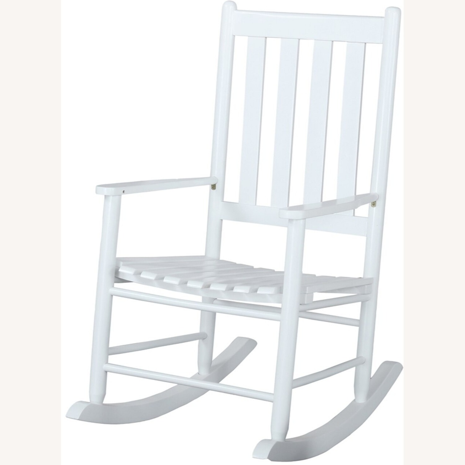 Rocking Chair In White Solid Acacia Wood Finish - image-1