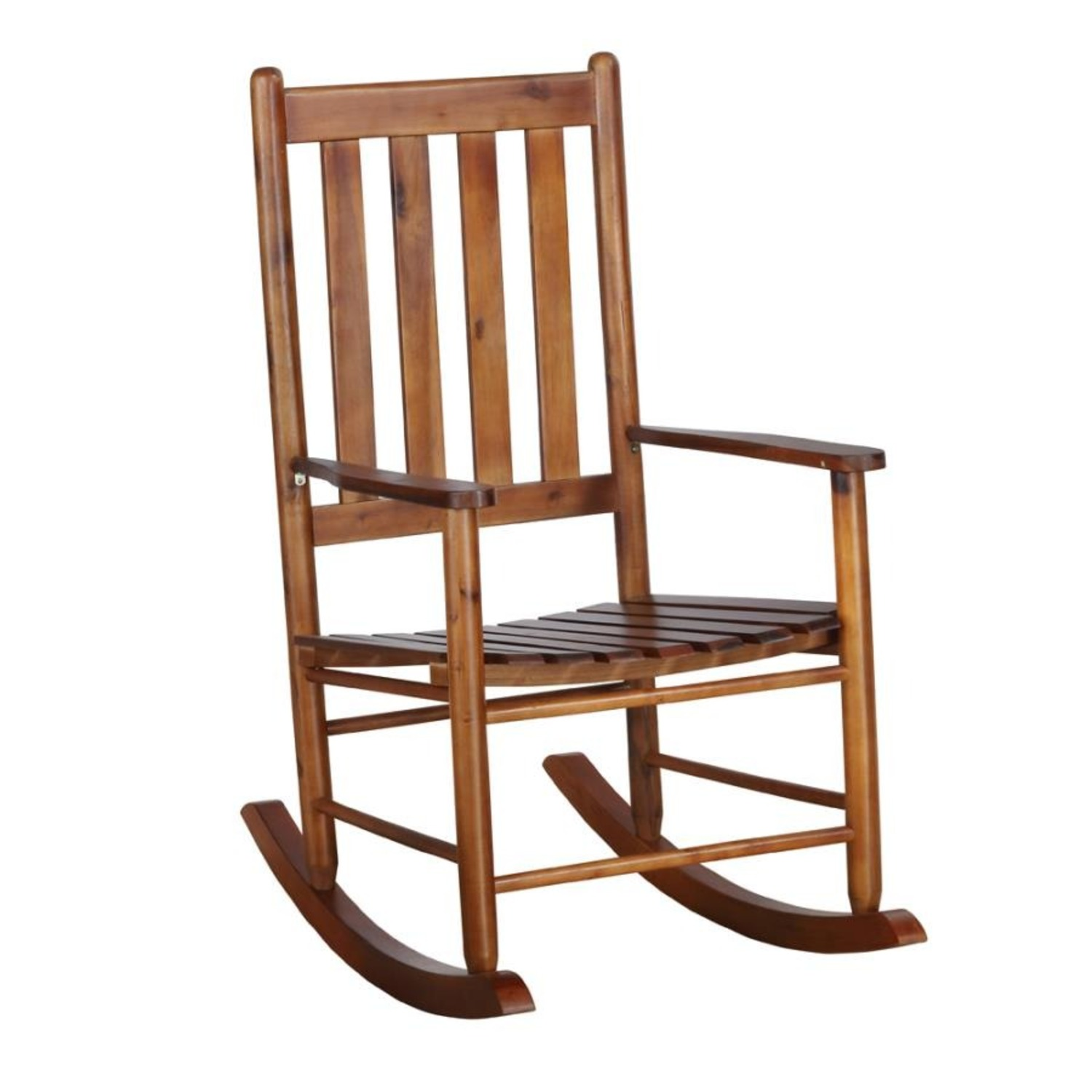 Rocking Chair In Golden Brown Solid Acacia Finish - image-0