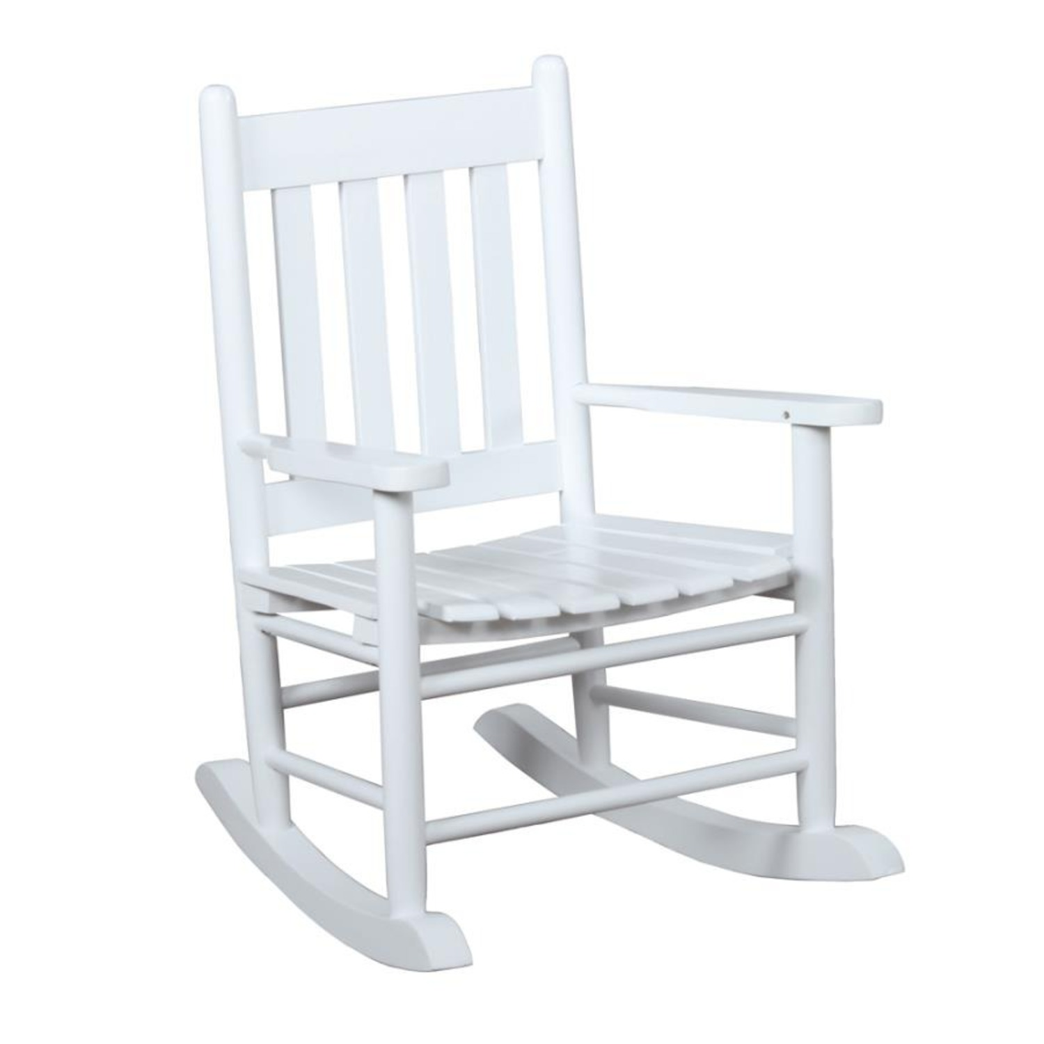 Kid's Rocking Chair In White Solid Acacia Finish - image-0