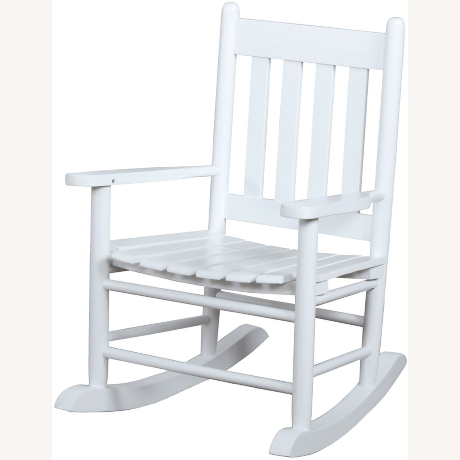 Kid's Rocking Chair In White Solid Acacia Finish - image-1