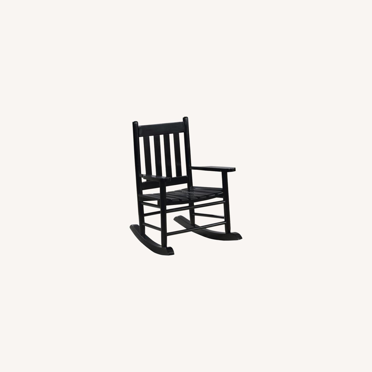 Kid's Rocking Chair In Black Solid Acacia Finish - image-3