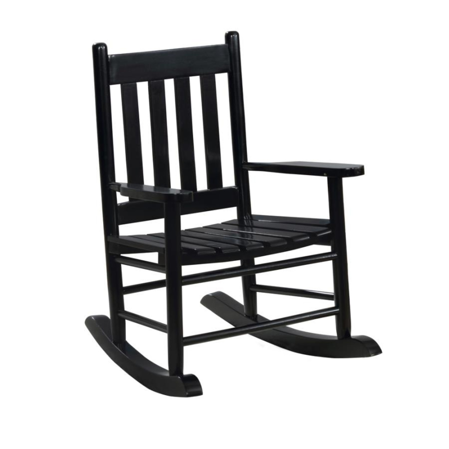 Kid's Rocking Chair In Black Solid Acacia Finish - image-0