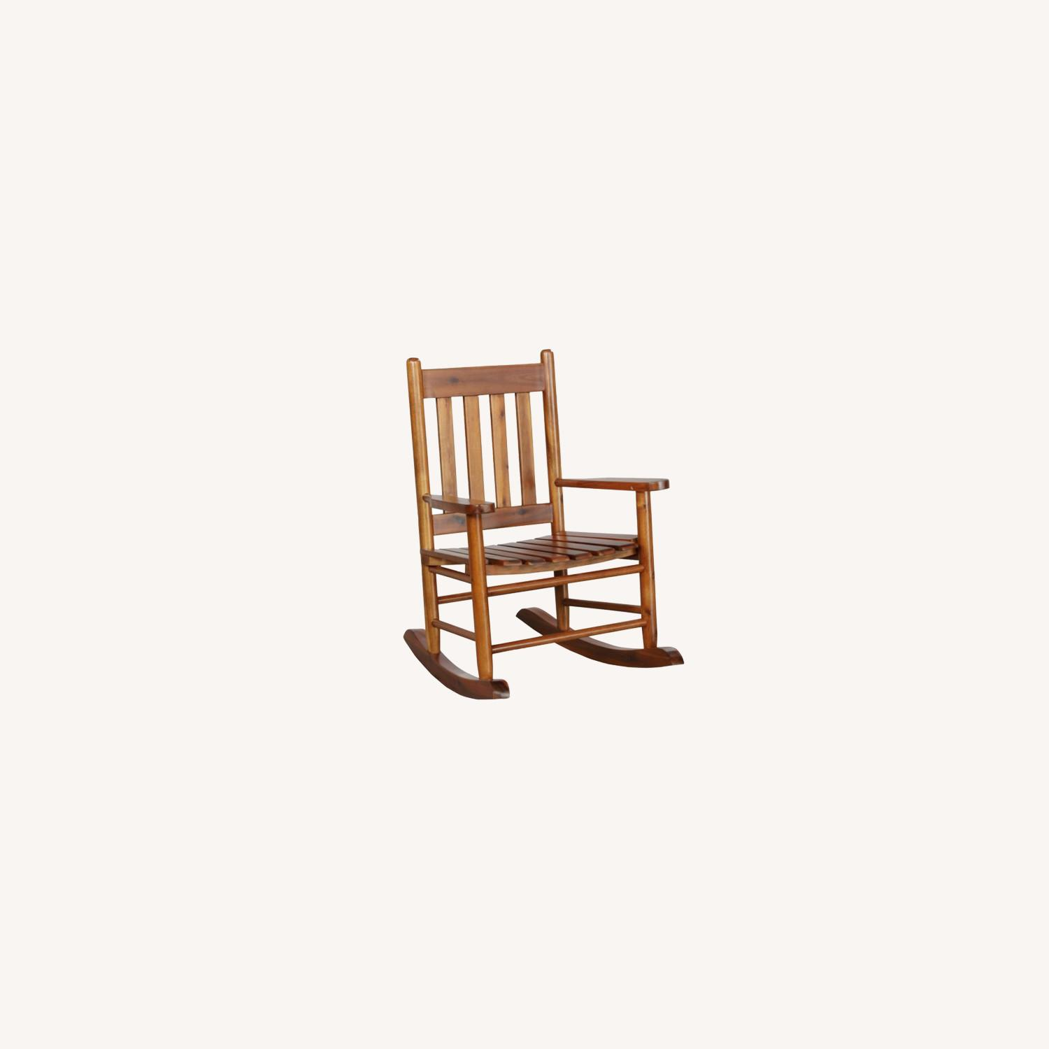 Kid's Rocking Chair In Golden Brown Finish - image-3