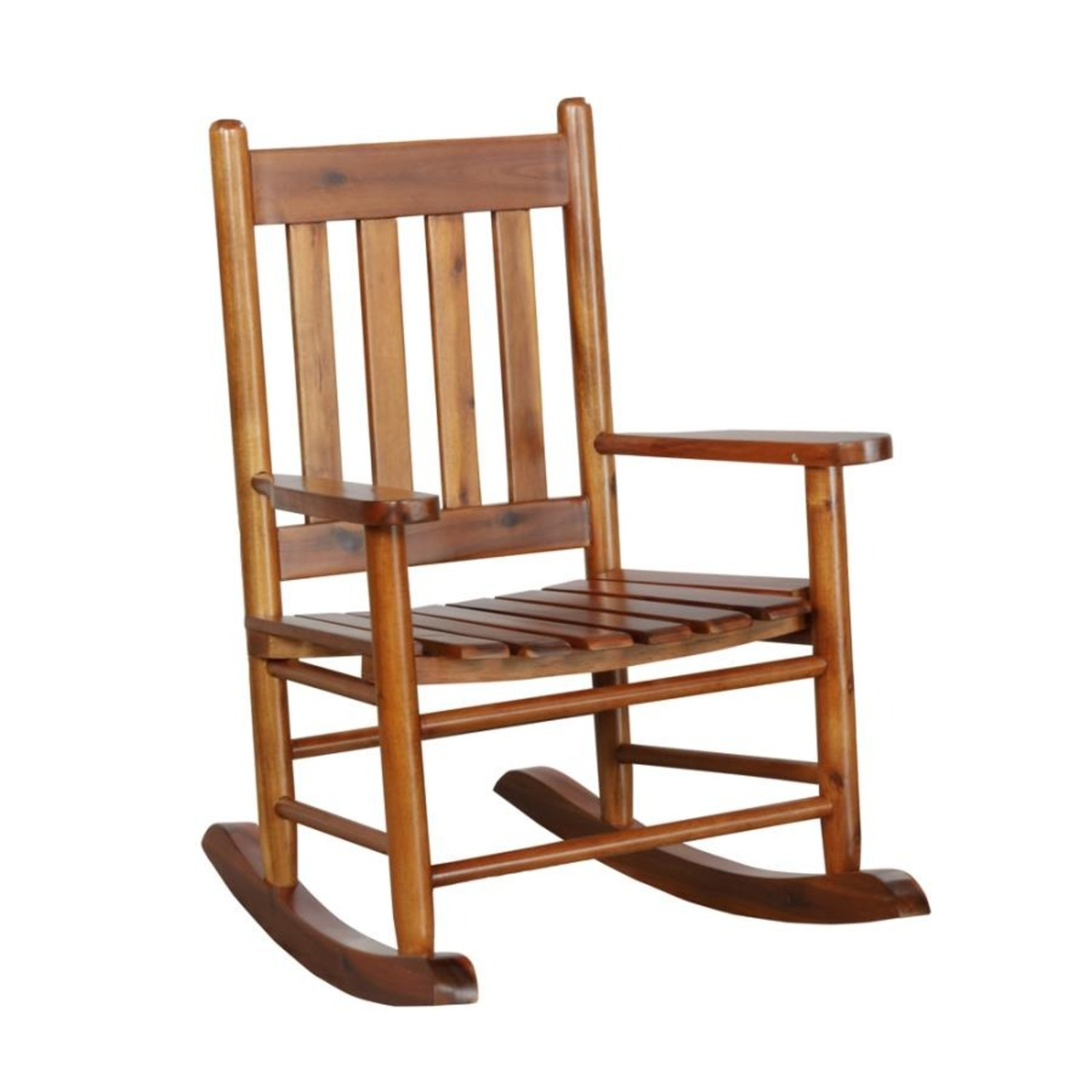 Kid's Rocking Chair In Golden Brown Finish - image-0