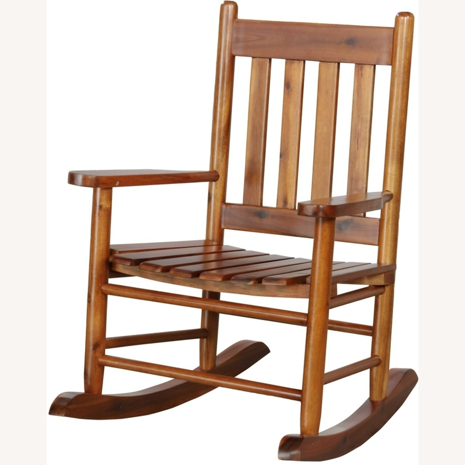 Kid's Rocking Chair In Golden Brown Finish - image-1