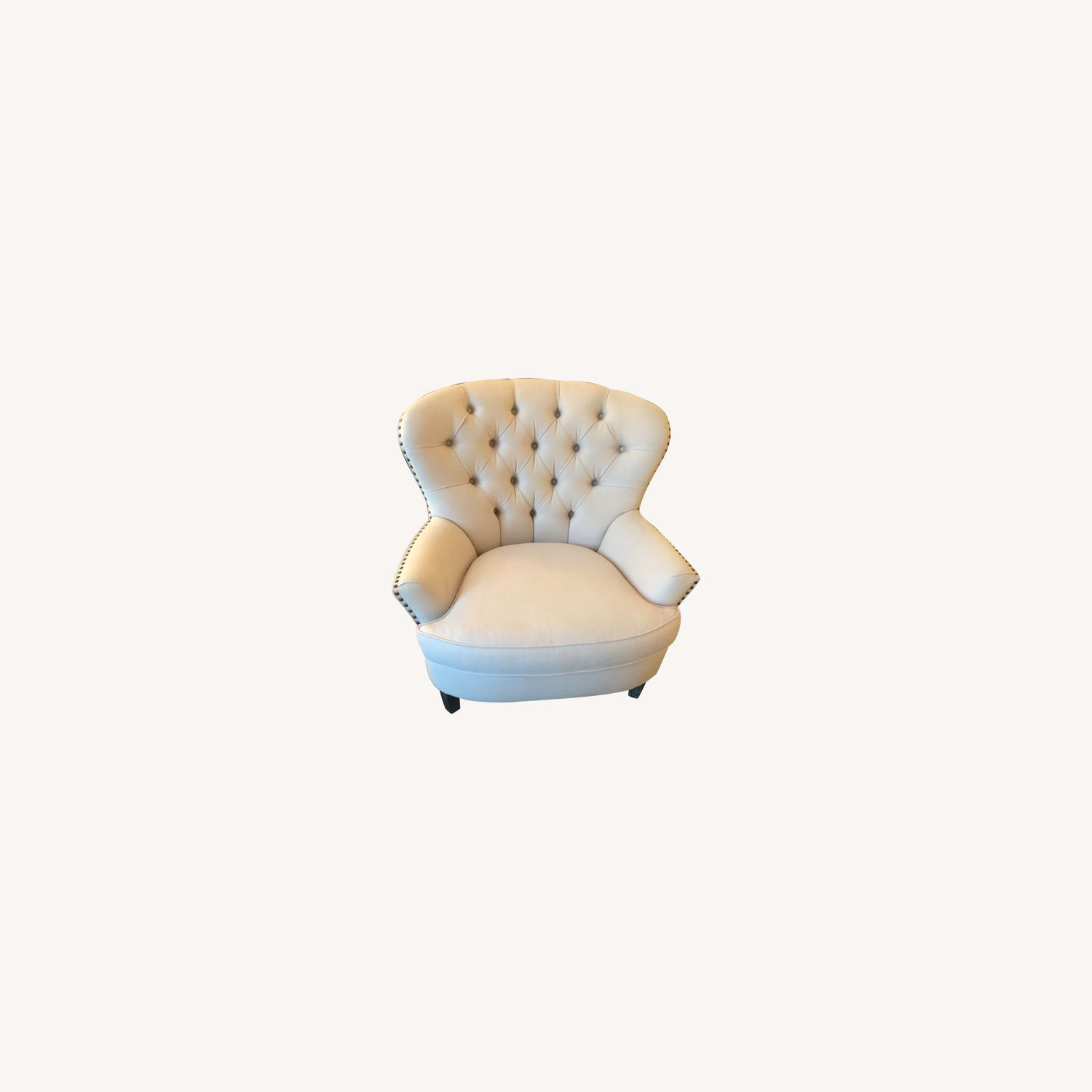 Pottery Barn Cardiff Chair Cotton Blush - image-0