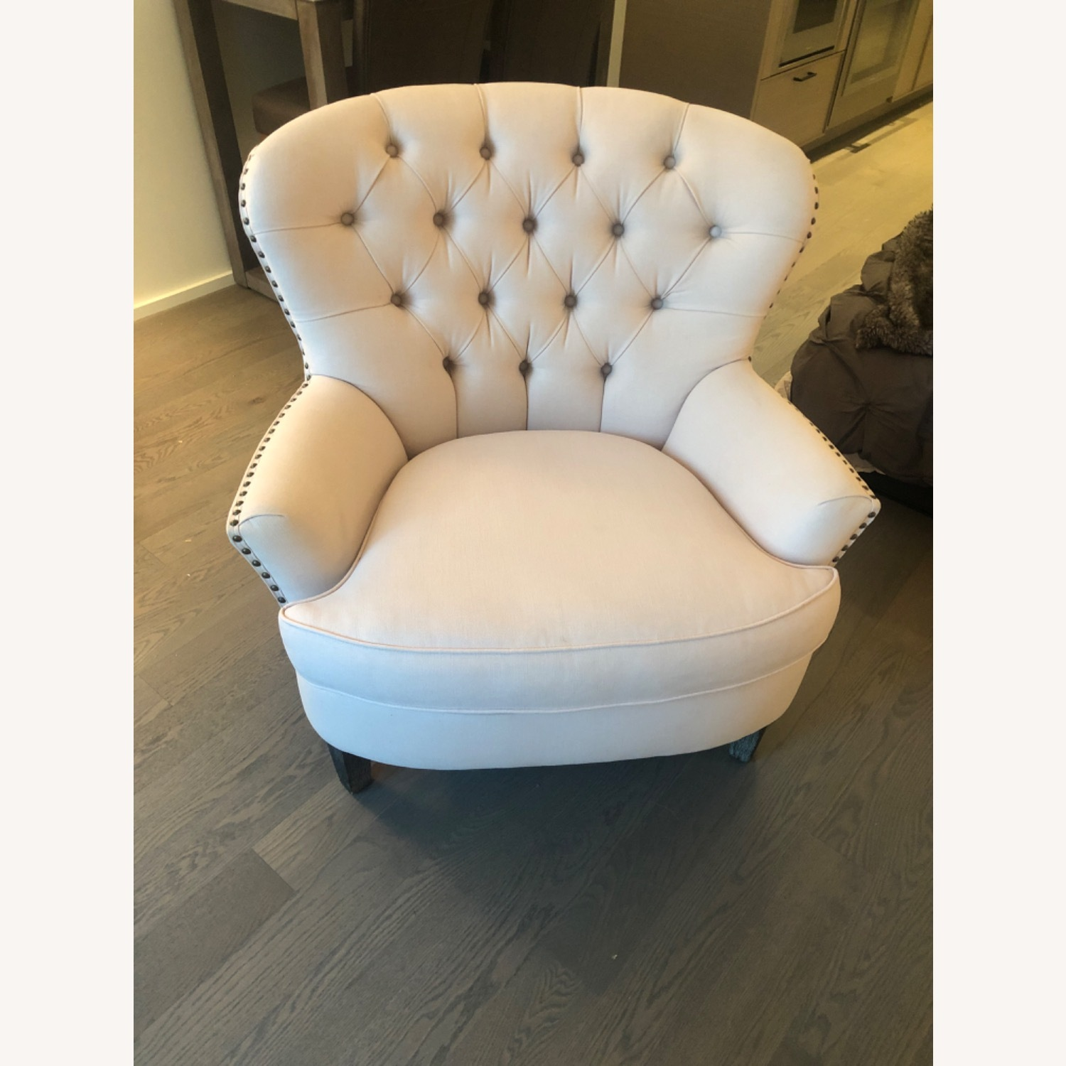 Pottery Barn Cardiff Chair Cotton Blush - image-2