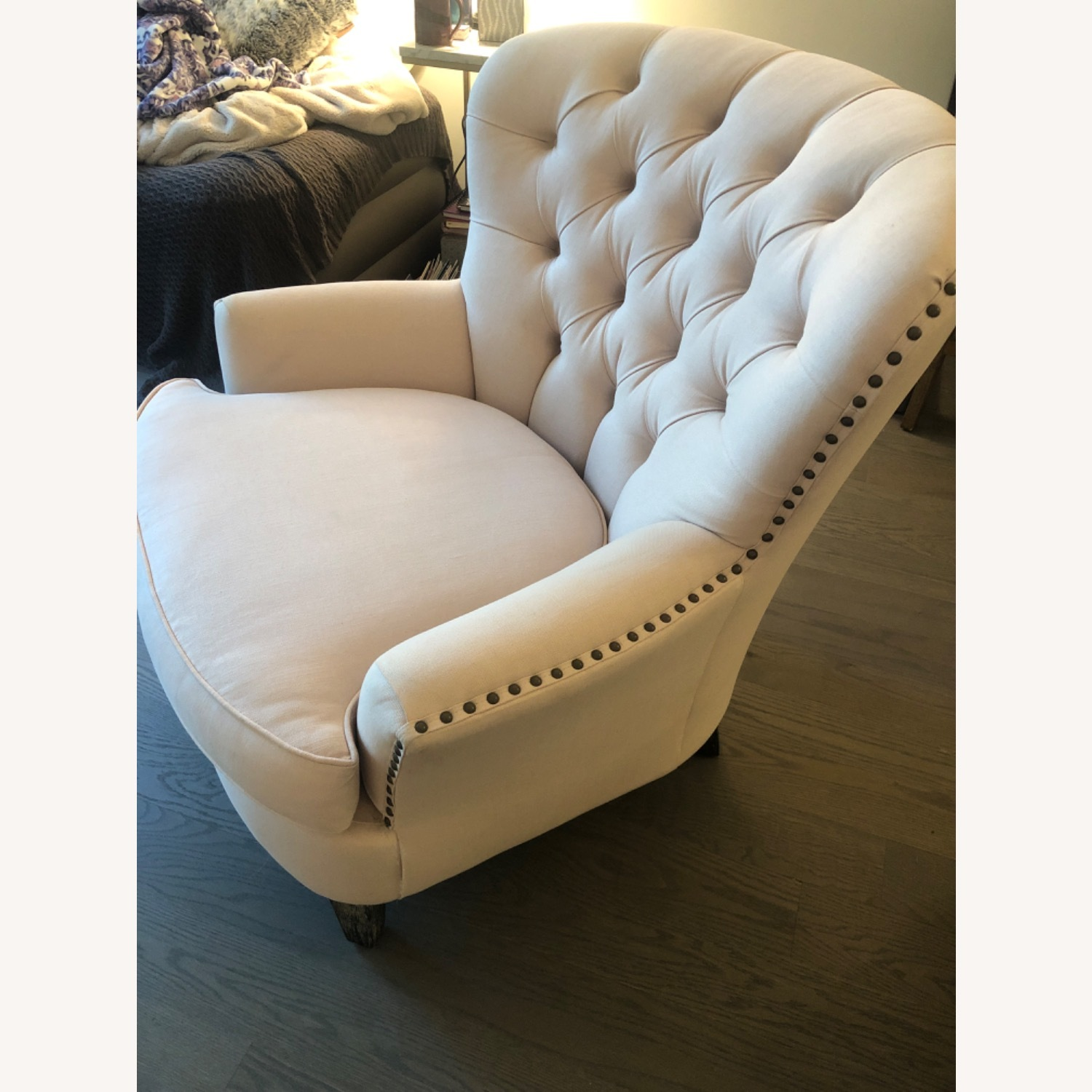Pottery Barn Cardiff Chair Cotton Blush - image-3
