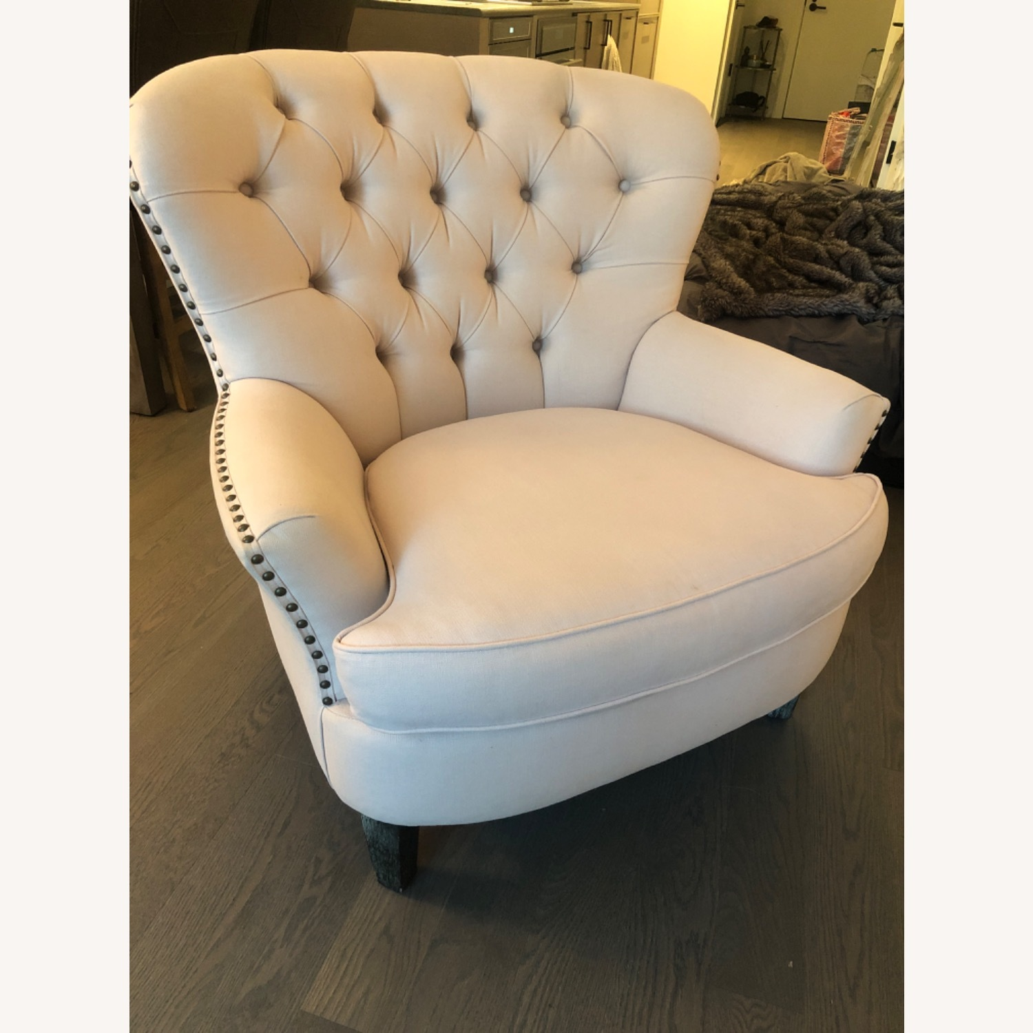 Pottery Barn Cardiff Chair Cotton Blush - image-1
