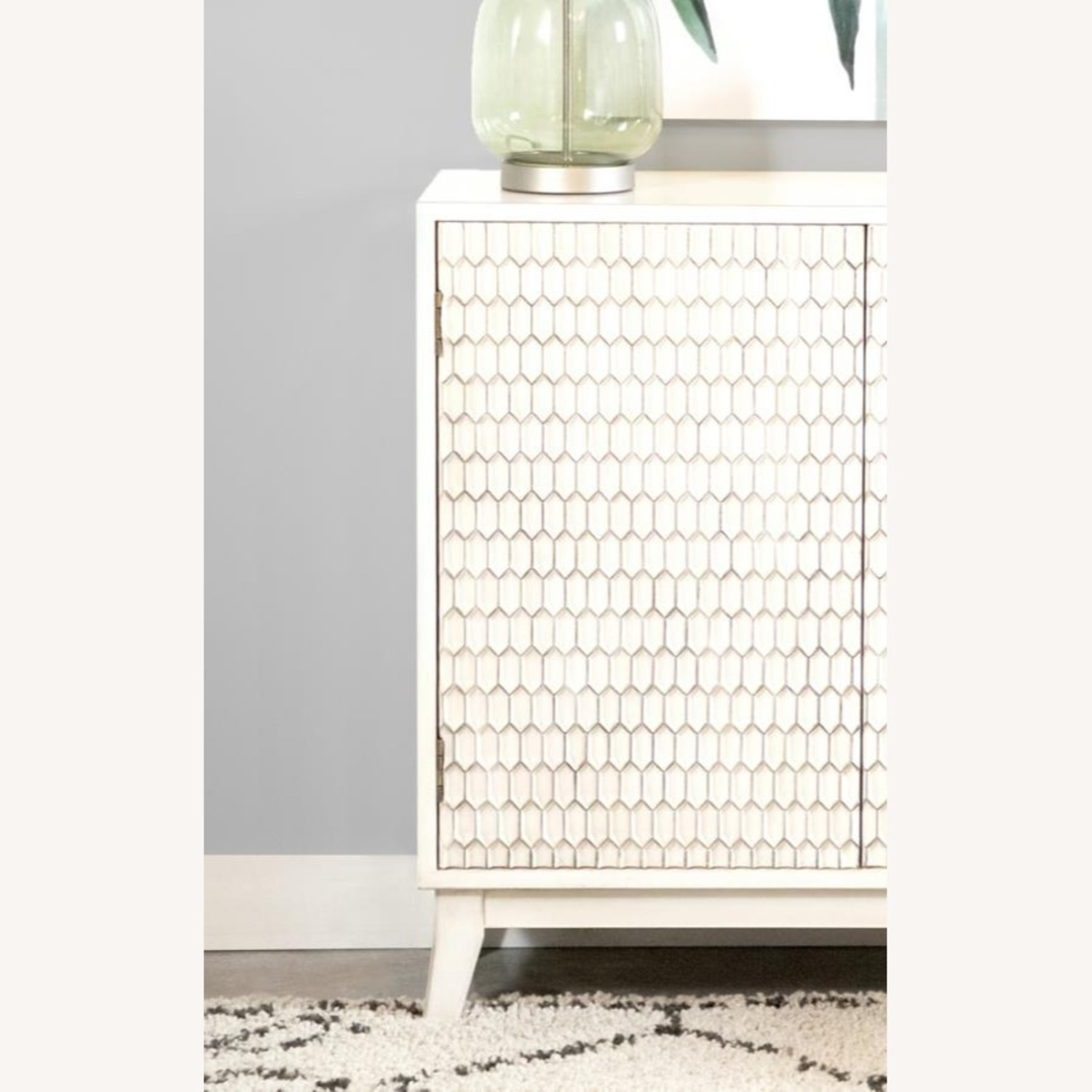 Accent Cabinet In White Washed Finish - image-3