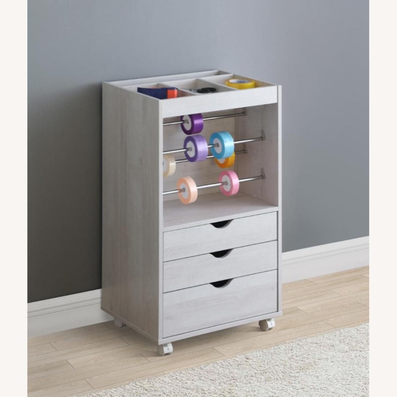 Storage Cabinet In White Finish W/ Storage Racks - image-3