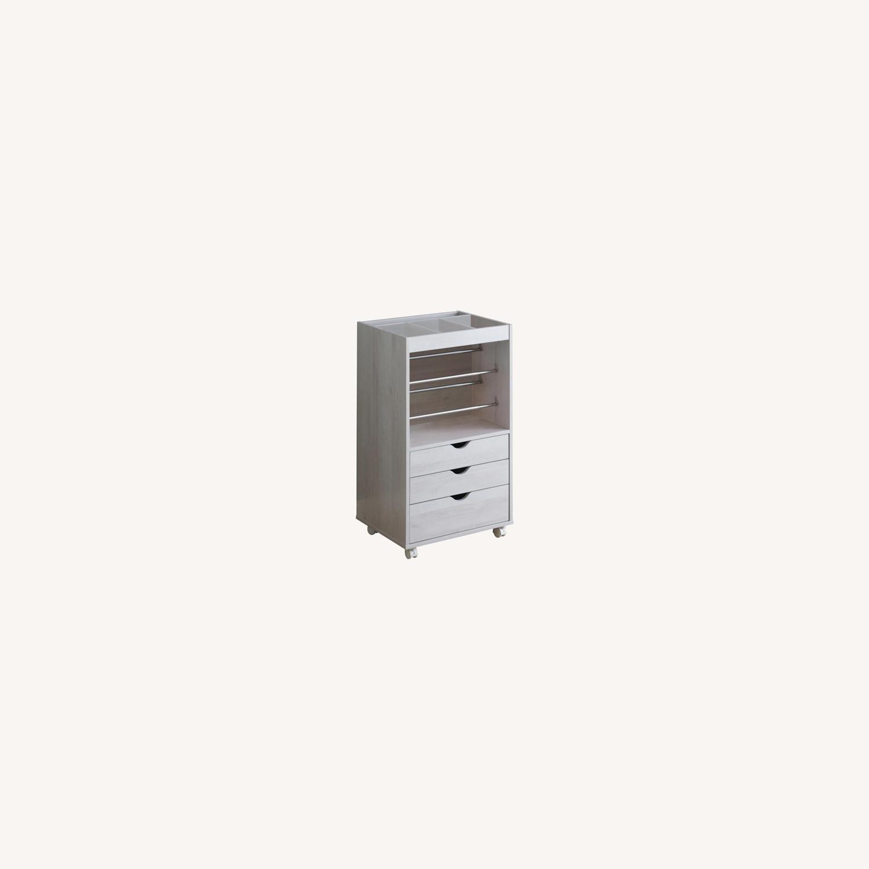 Storage Cabinet In White Finish W/ Storage Racks - image-4