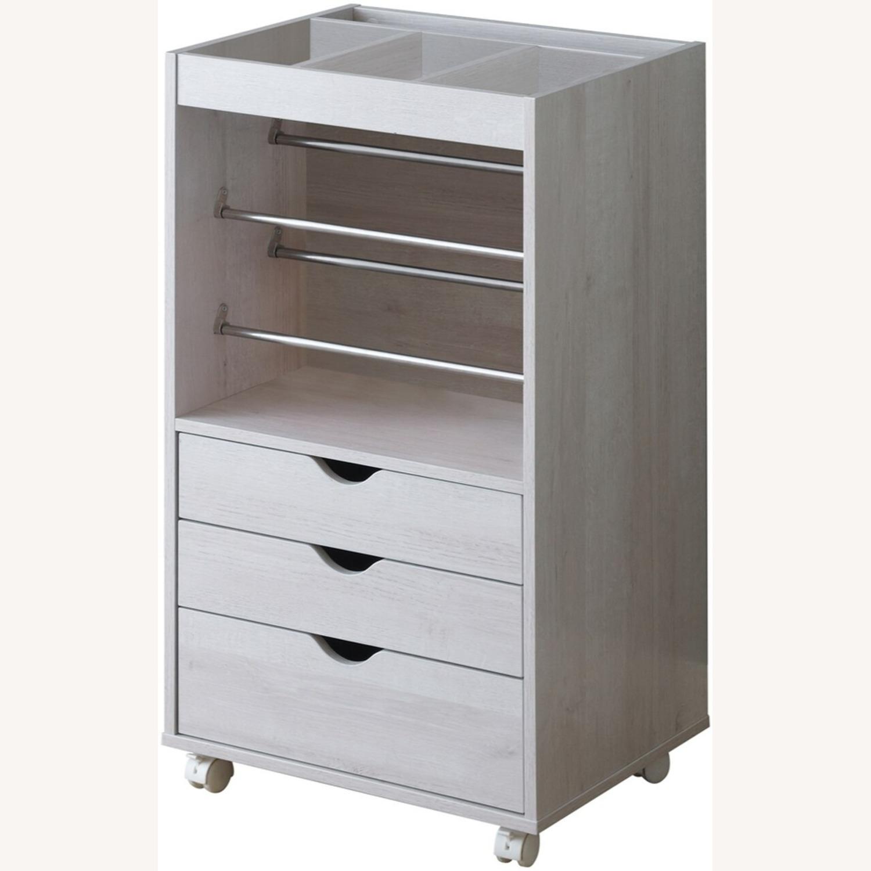 Storage Cabinet In White Finish W/ Storage Racks - image-1
