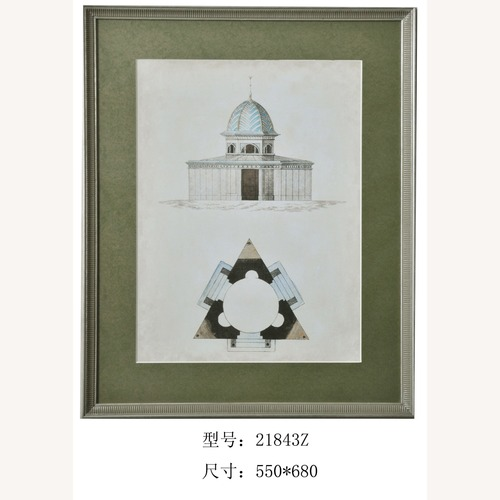 Used Architecture prints wood Framed for sale on AptDeco