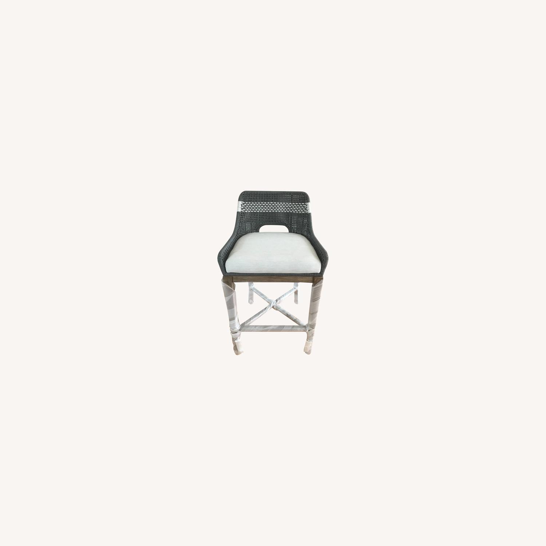 Essentials for Living Brand Teak Wood Bar Chair - image-0