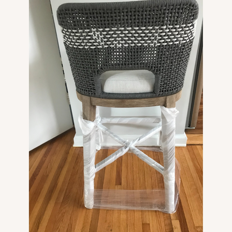 Essentials for Living Brand Teak Wood Bar Chair - image-3