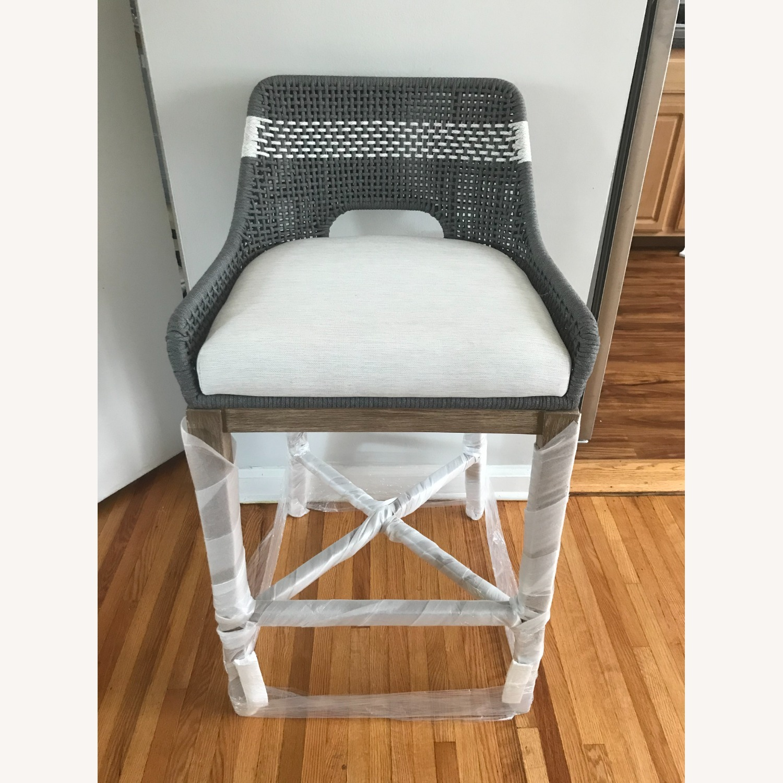 Essentials for Living Brand Teak Wood Bar Chair - image-2