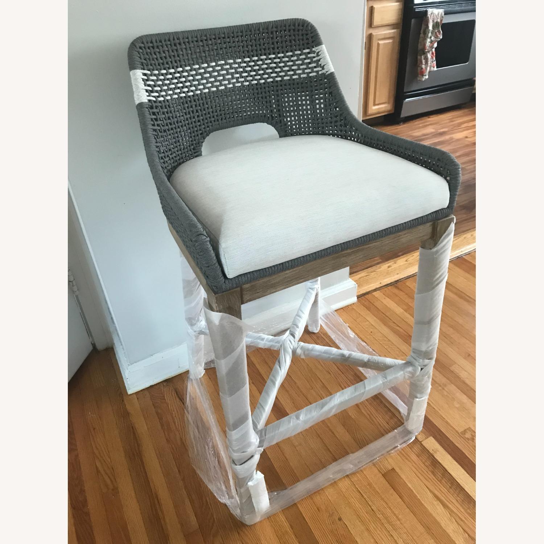 Essentials for Living Brand Teak Wood Bar Chair - image-4