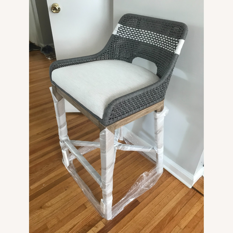 Essentials for Living Brand Teak Wood Bar Chair - image-1