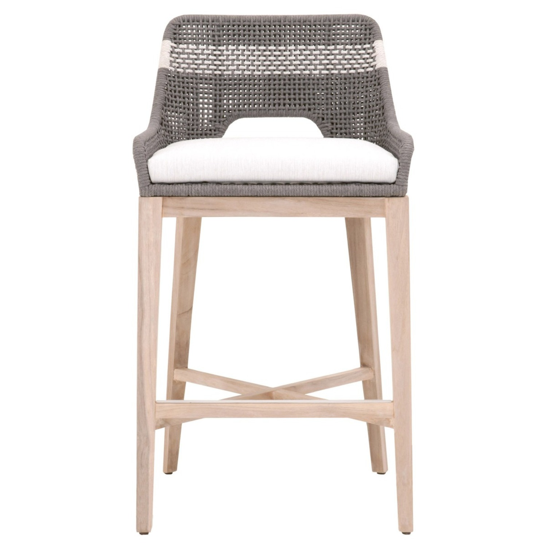 Essentials for Living Brand Teak Wood Bar Chair - image-5