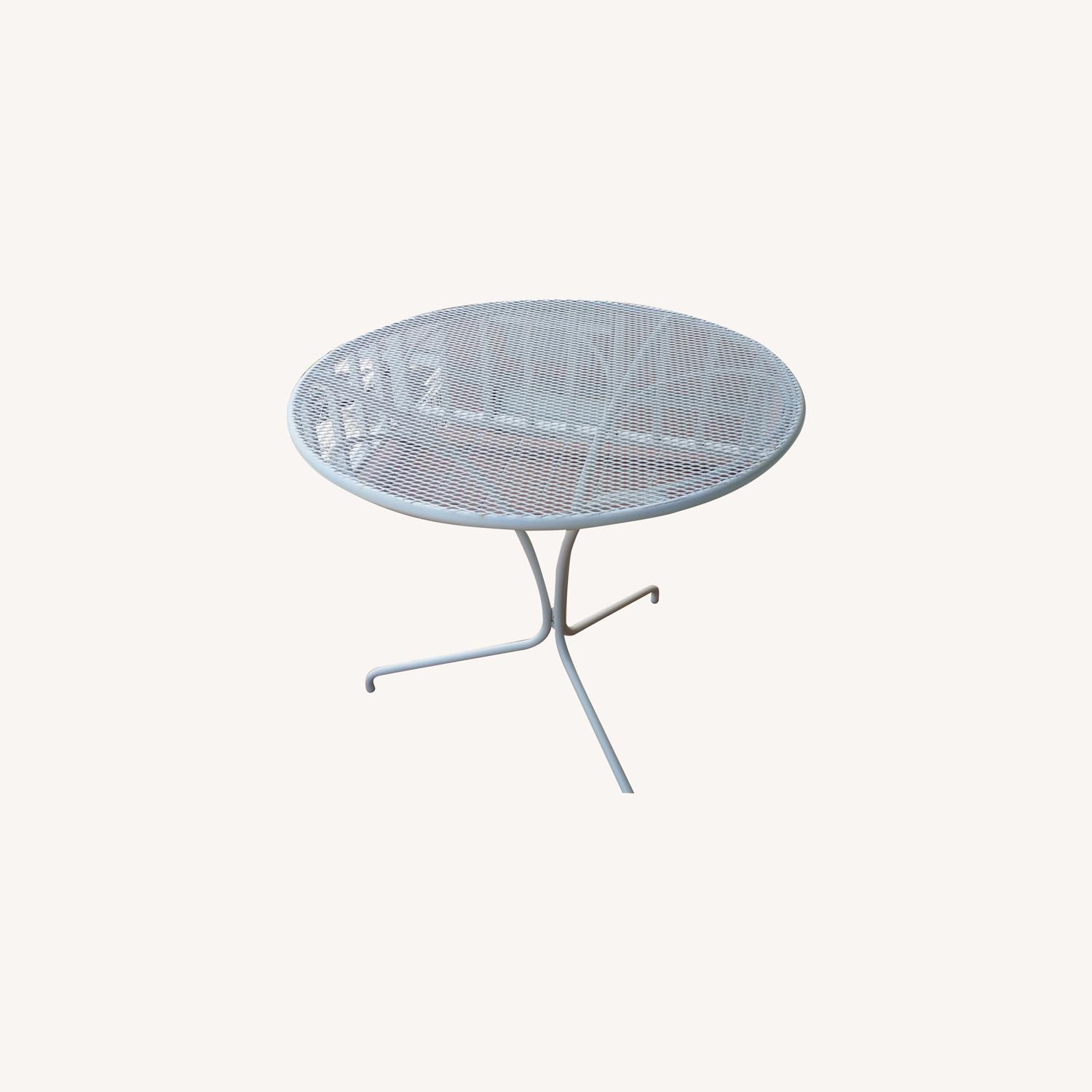 West Elm White Outdoor Bistro Table - image-0