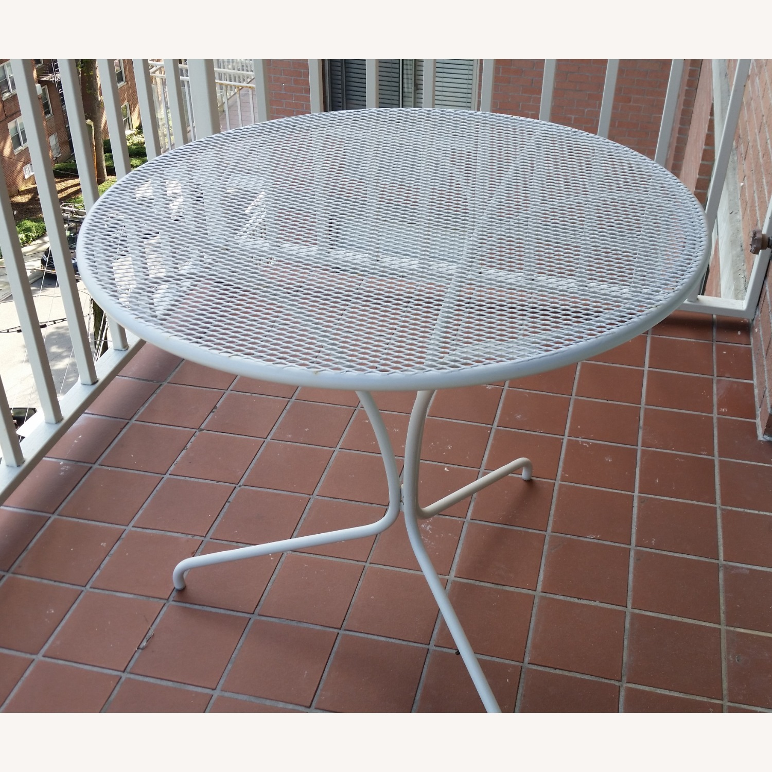 West Elm White Outdoor Bistro Table - image-1