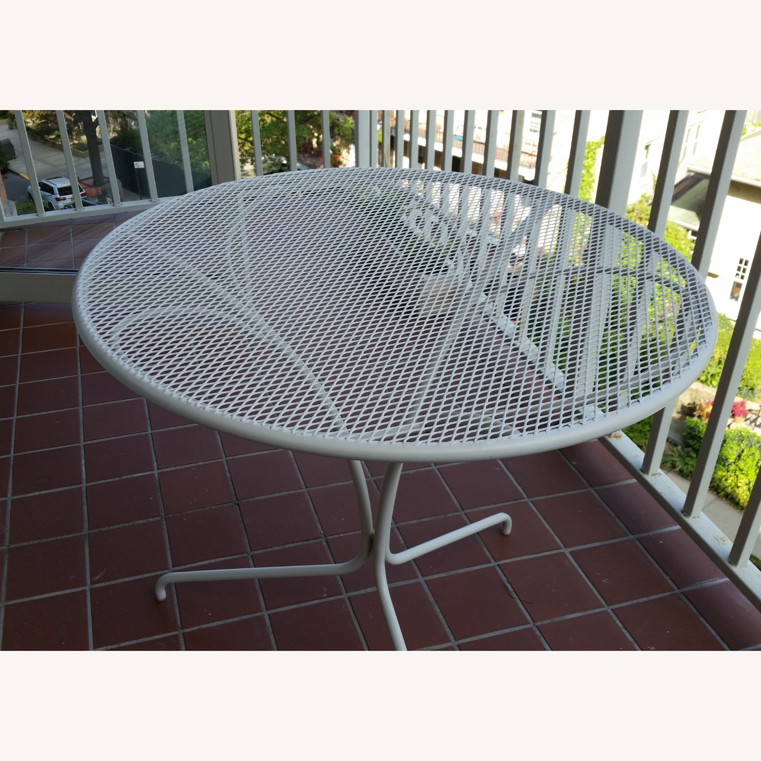 West Elm White Outdoor Bistro Table - image-3